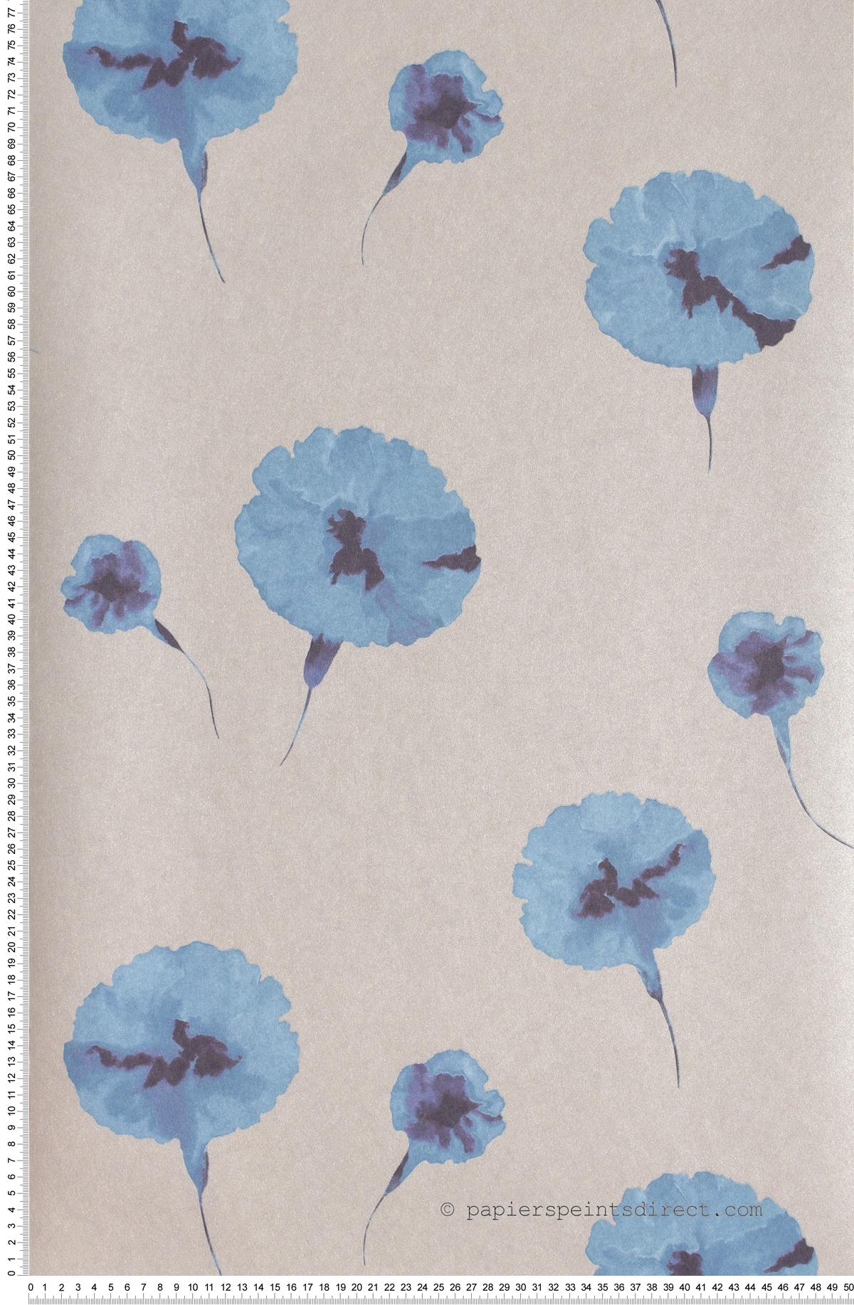 Oeillet Bleu Ciel Divine - papier peint Casadéco