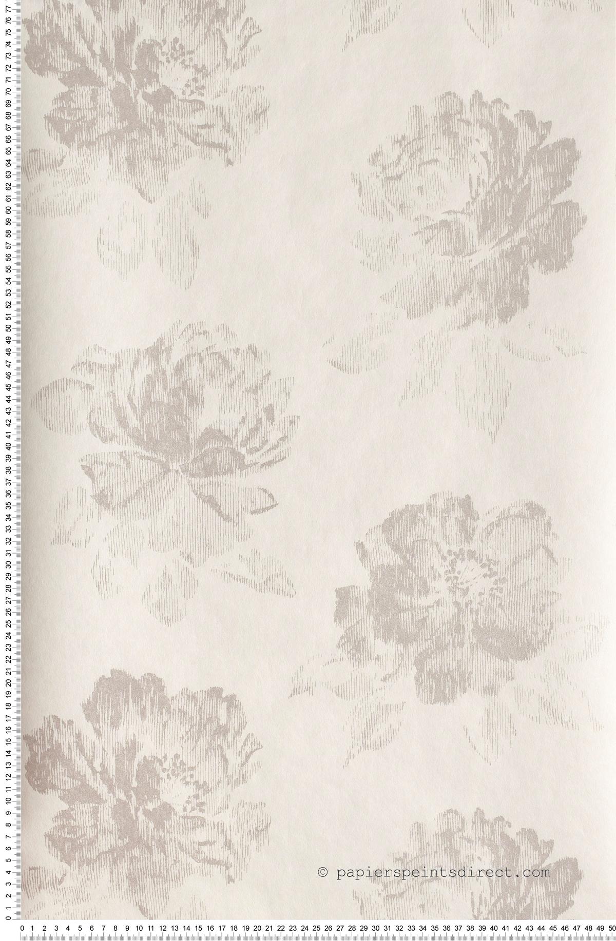 Floral Gris Tempête Divine - papier peint Casadéco