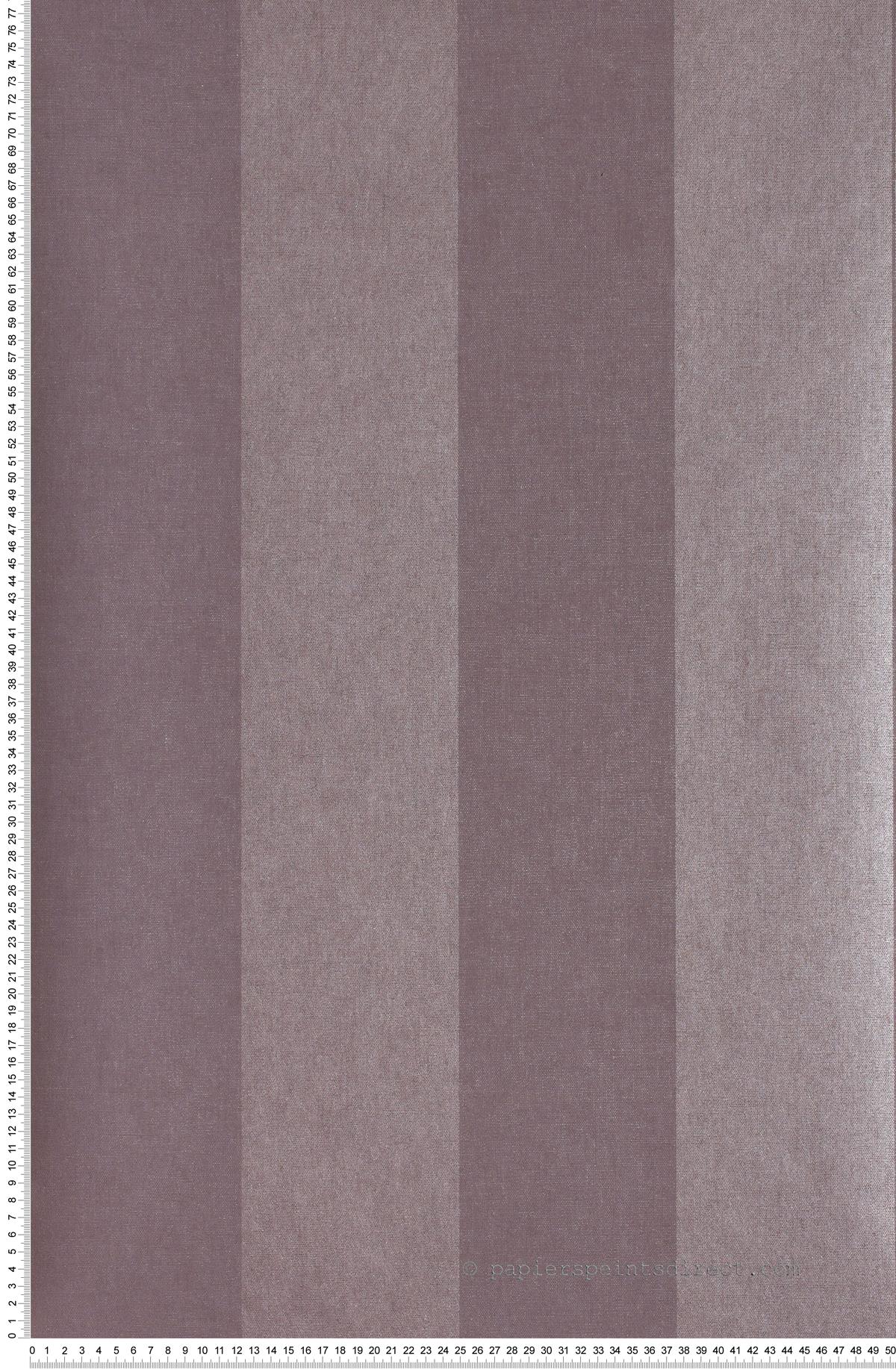 Rayures Larges Aubergine et Violet Divine - papier peint Casadéco