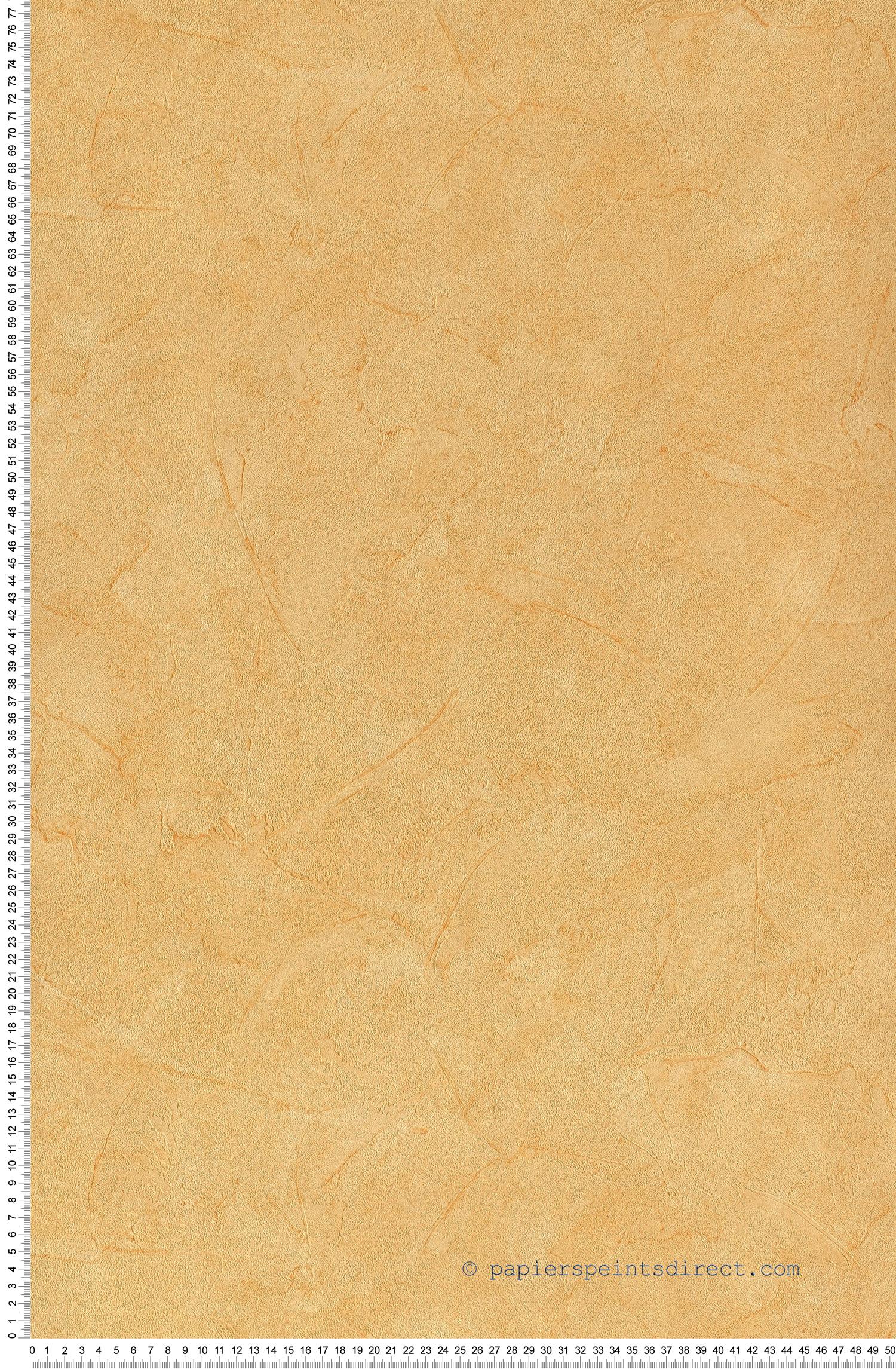 Papier Peint Effet Crepi crépi uni orange - papier peint unis et rayures de lutèce