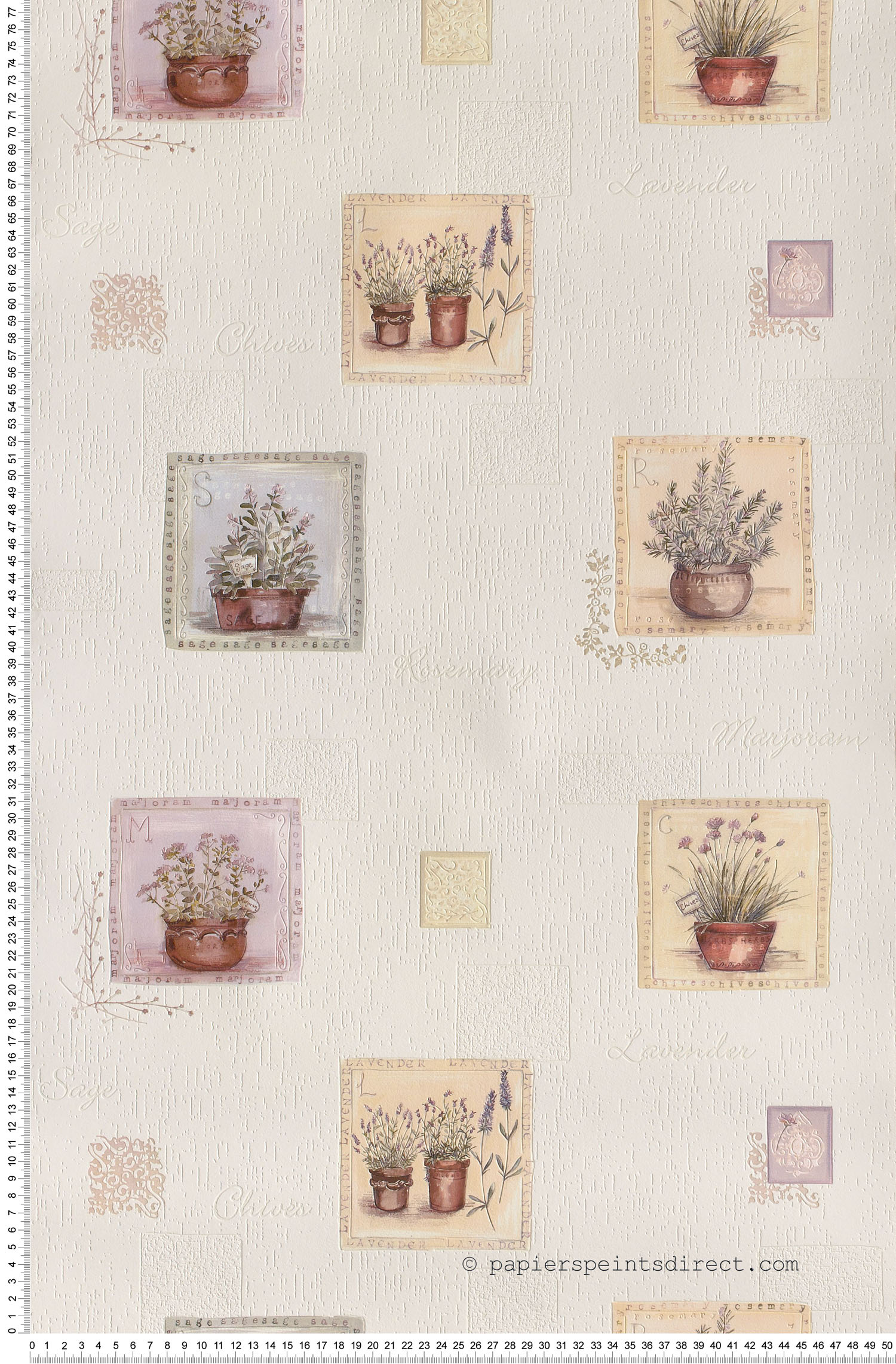 Herbes aromatiques  - Papier peint Aquamura de Lutèce