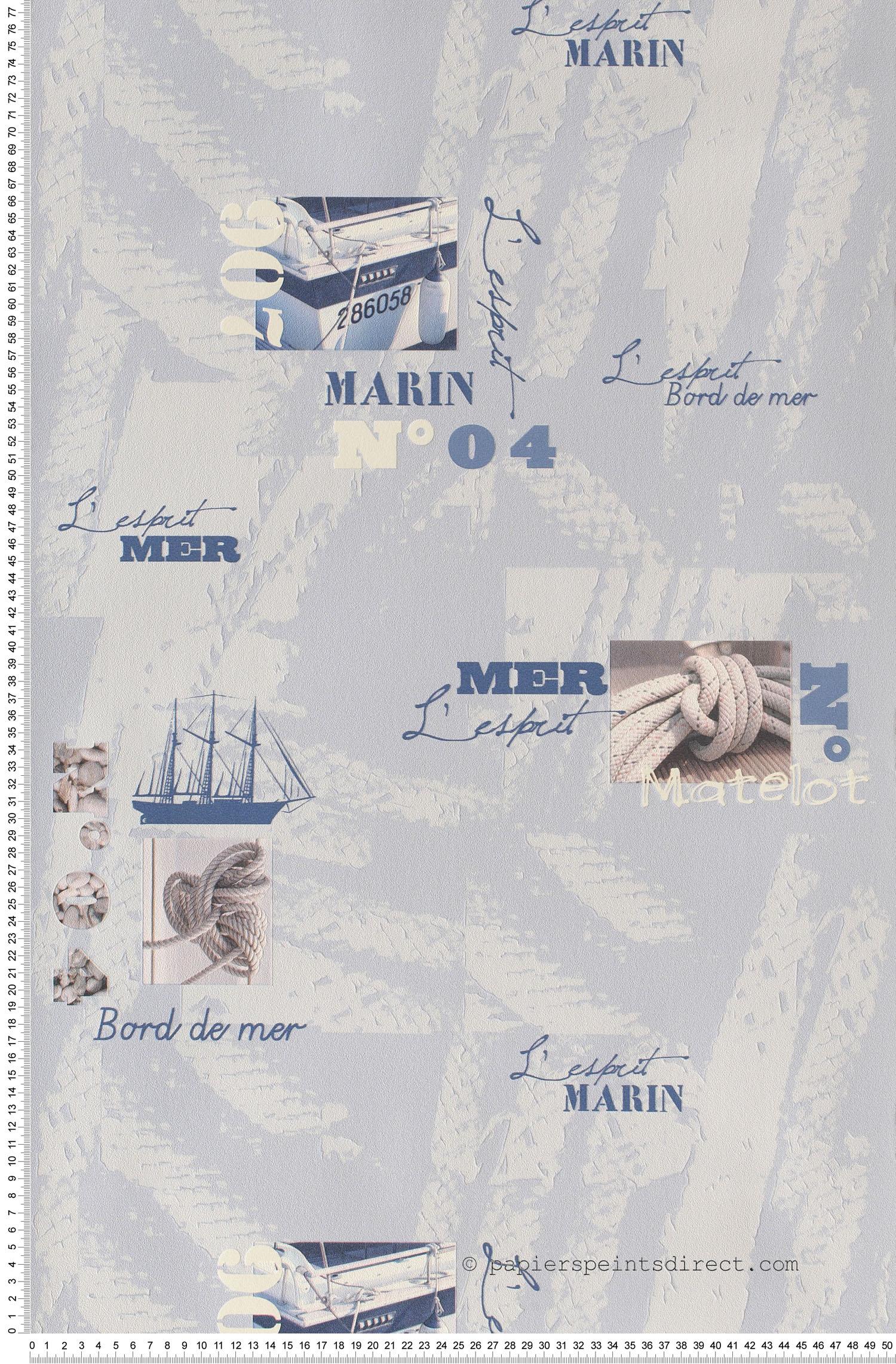 Esprit marin  - Papier peint Aquamura de Lutèce