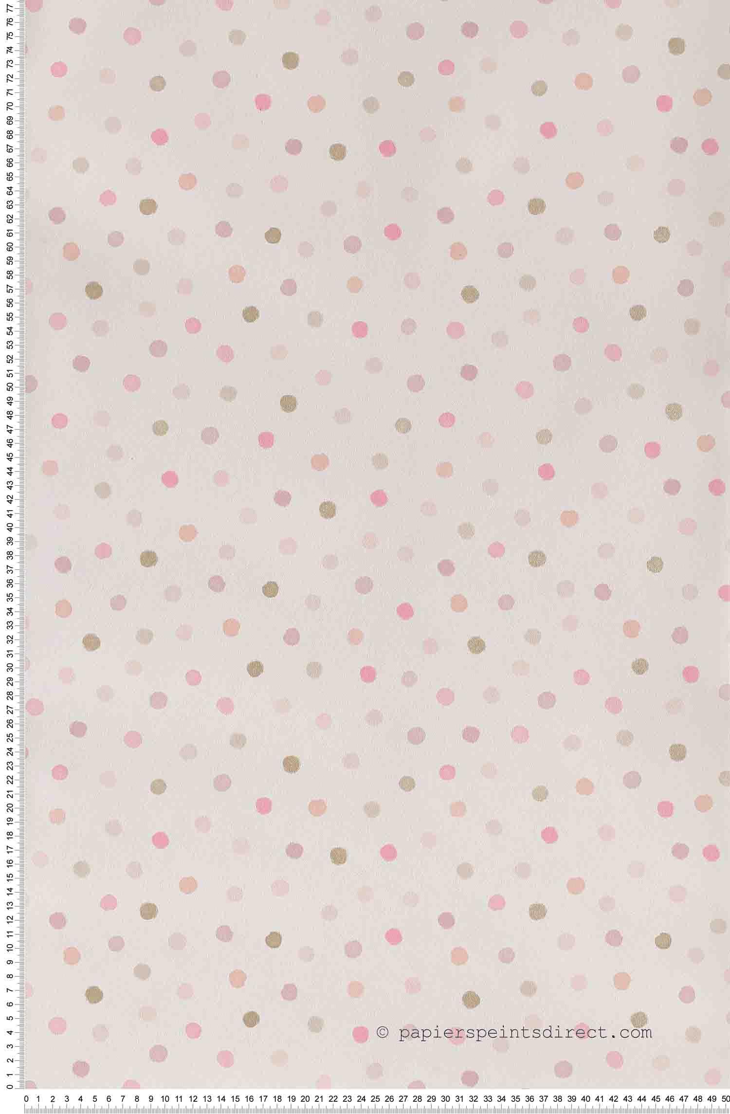 Confettis roses et dorés - Papier peint Ohlala de Casélio