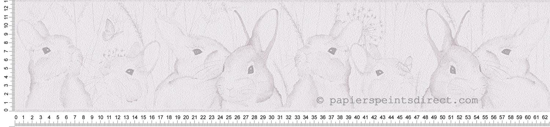 Frise lapins gris - Lovely friends AS Création | Réf. SP03502
