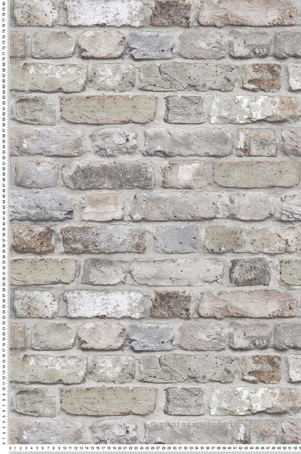Mur de briques vert de gris - Collection Authentic 2 de ...