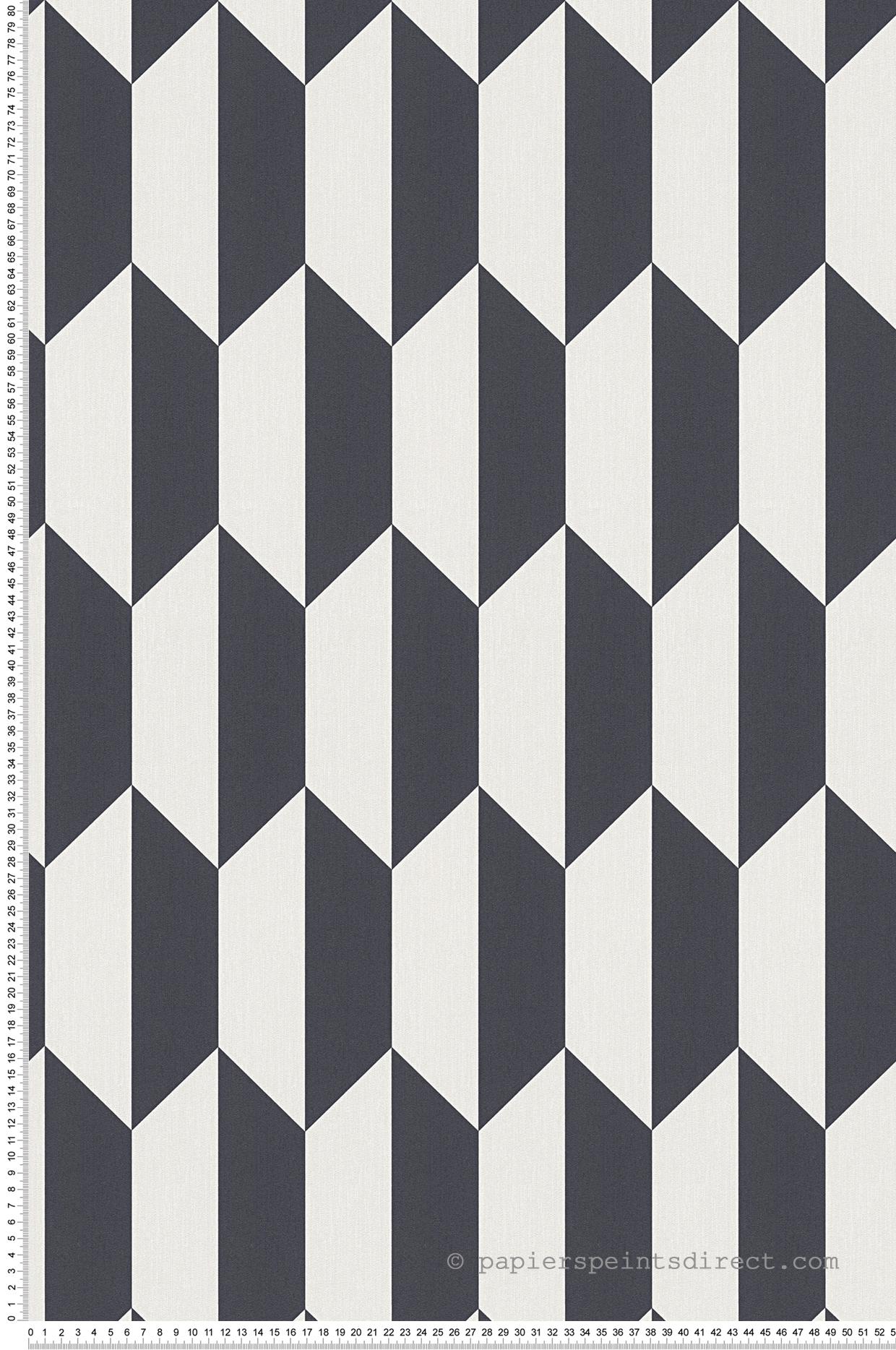 Papier Peint Noir Et Blanc Graphique papier peint malmo 3d noir-argile - bjorn as création | réf