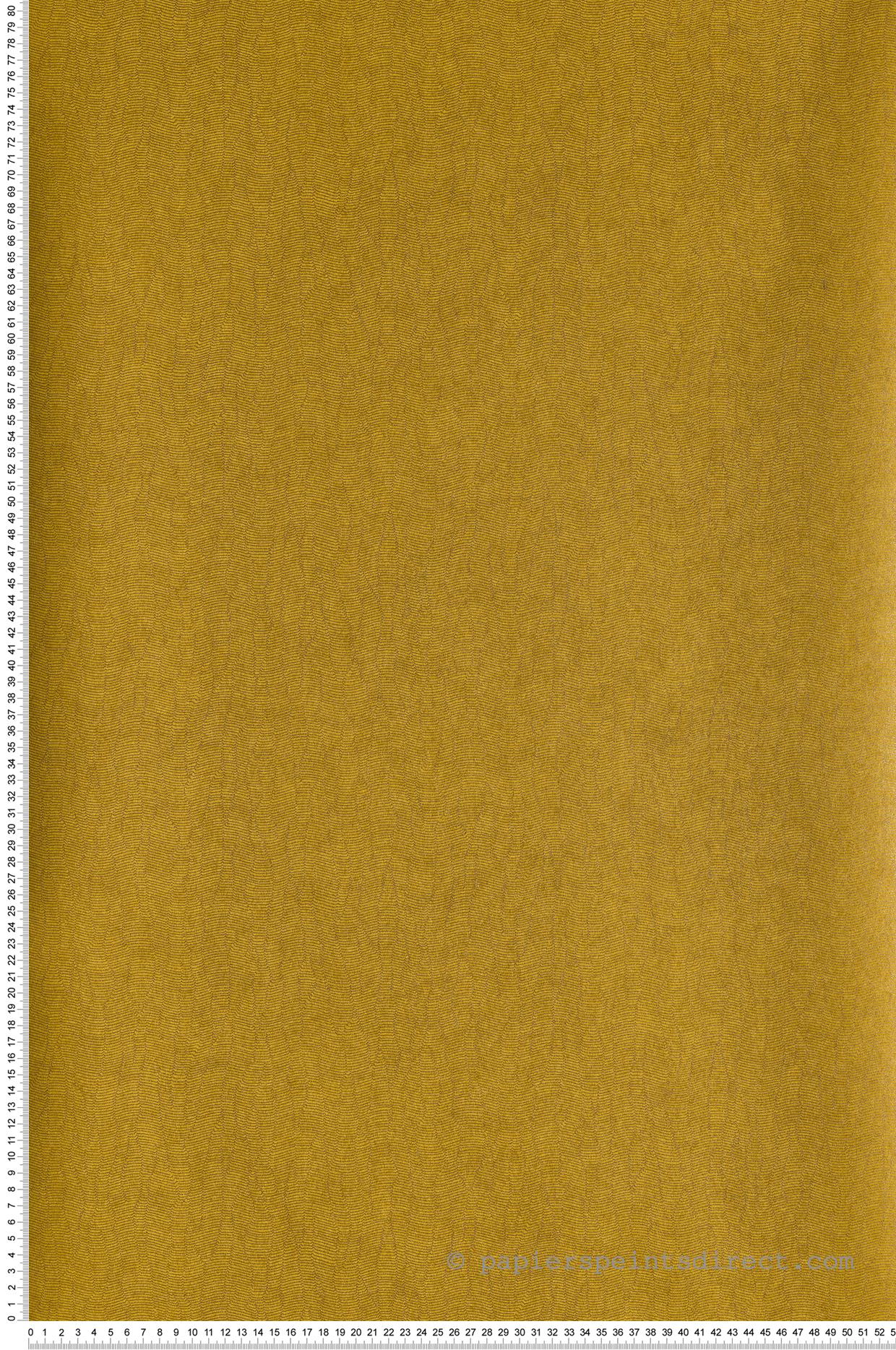 Papier Peint Faux Uni Gallant Jaune Curry Blossom De Casamance