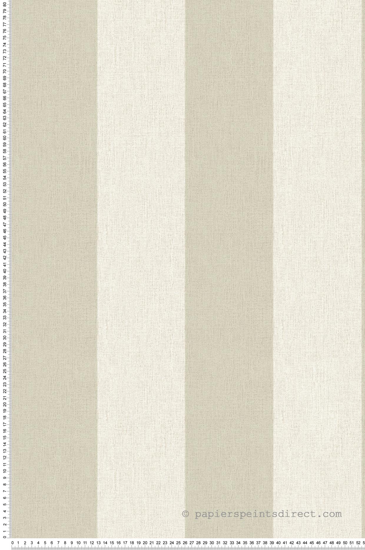 Couloir Couleur Taupe Et Lin papier peint rayures textile taupe-lin - bornéo as création