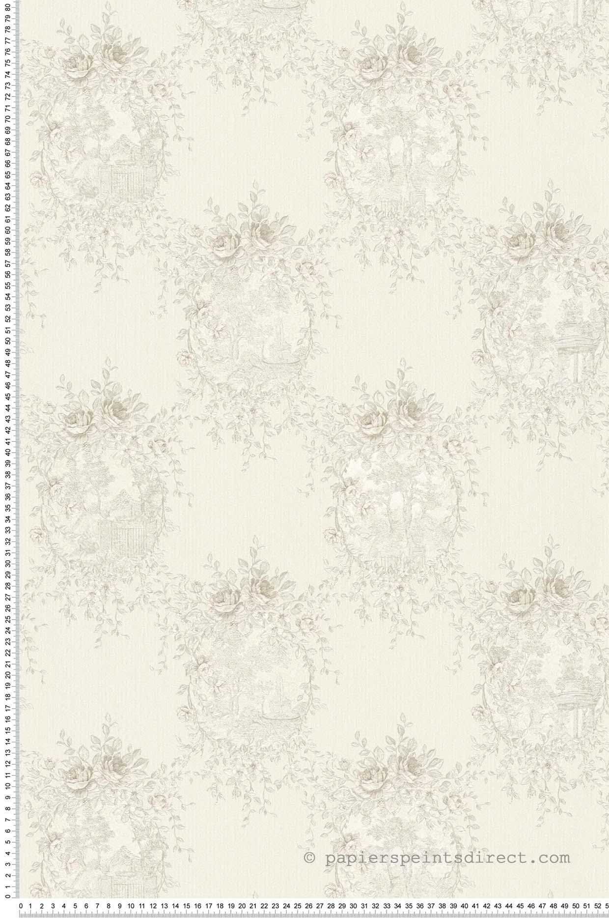 Papier peint Chantilly argent - Château 5 AS Création | Réf. SP04234