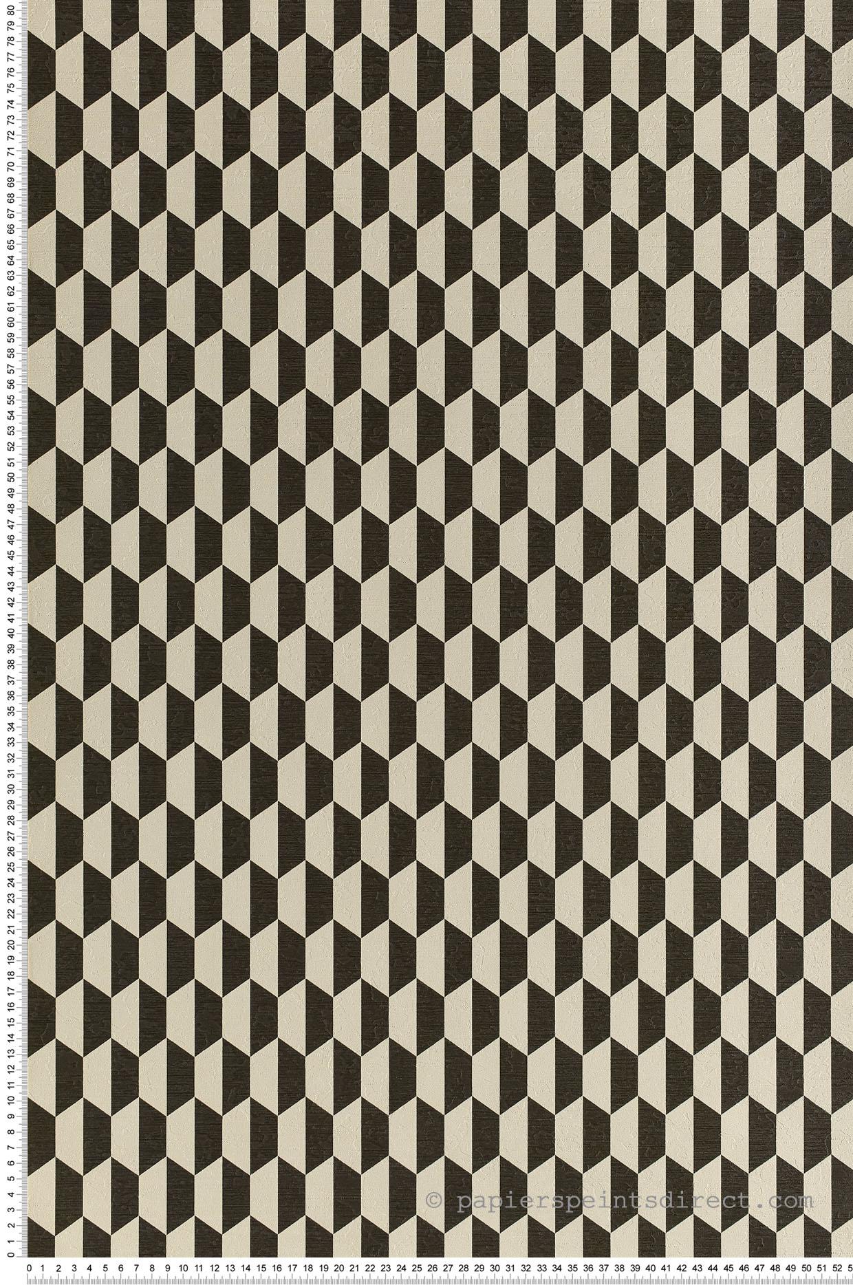Papier Peint Noir Et Blanc Graphique papier peint géométrique hexagone bicolore noir/blanc
