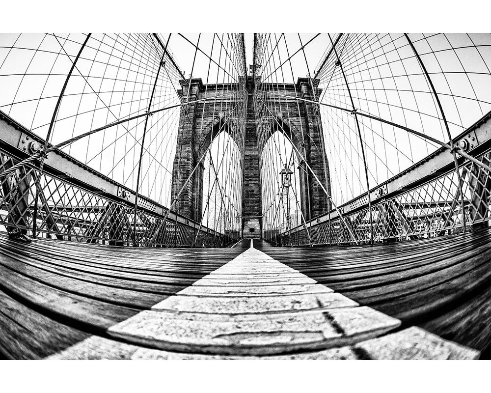 Vue du pont de Brooklyn - Papier peint XXL Digital Architects Paper