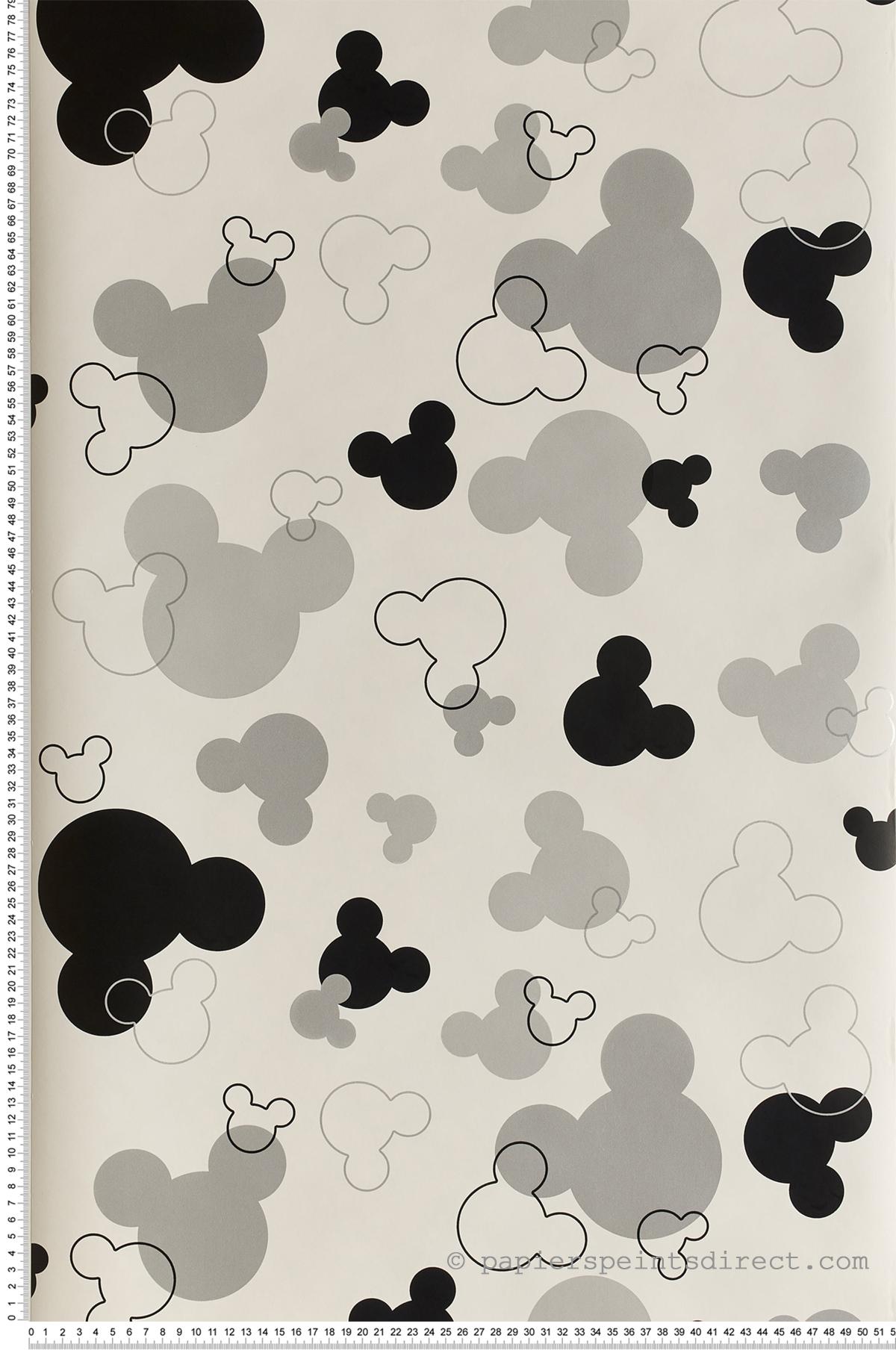 Papier peint Mickey argent noir - Disney de Lutèce   Réf. LTC-DK5929