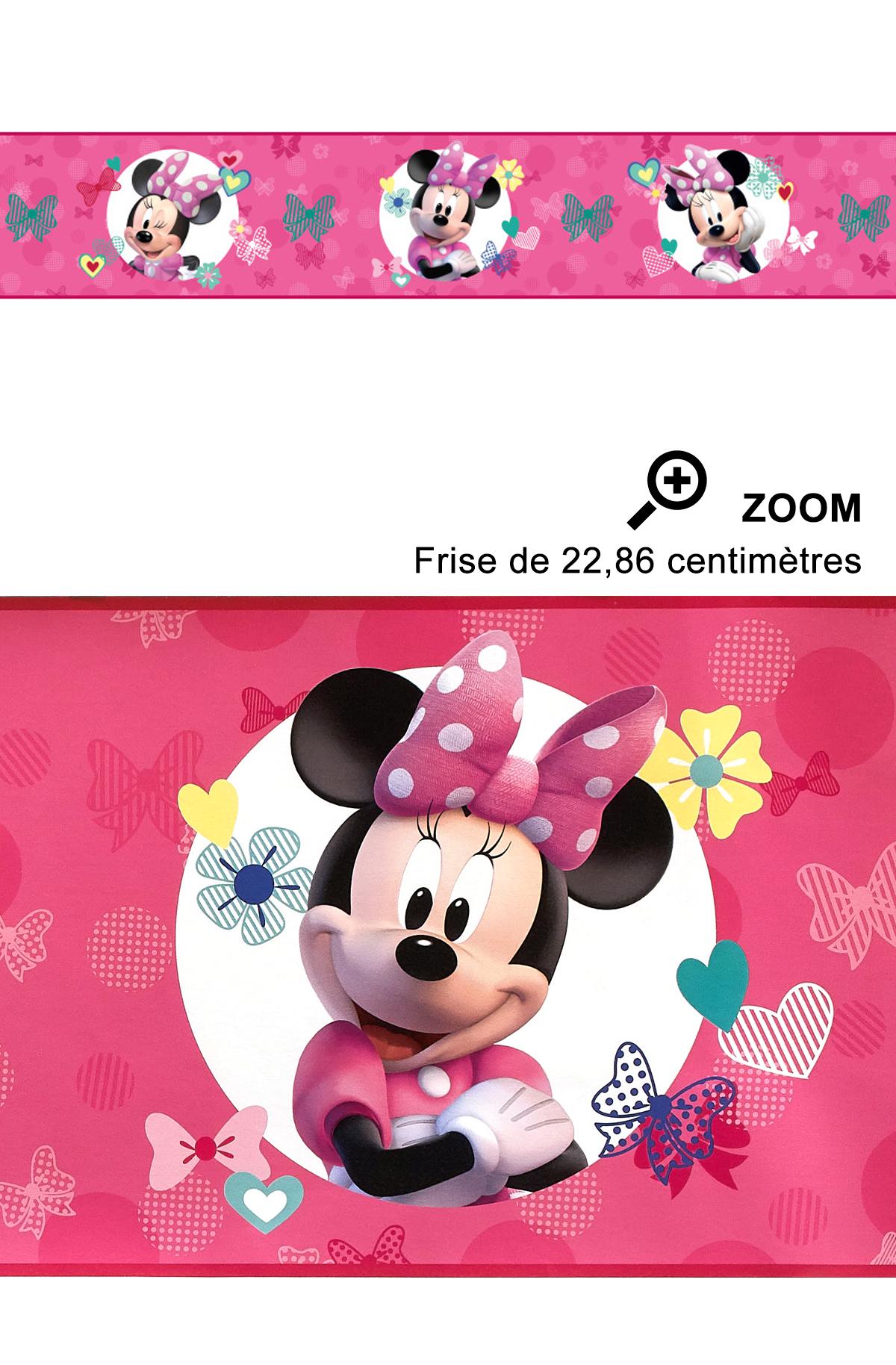 Frise Minie fond rose - Disney de Lutèce | Réf. LTC-DY0173BD