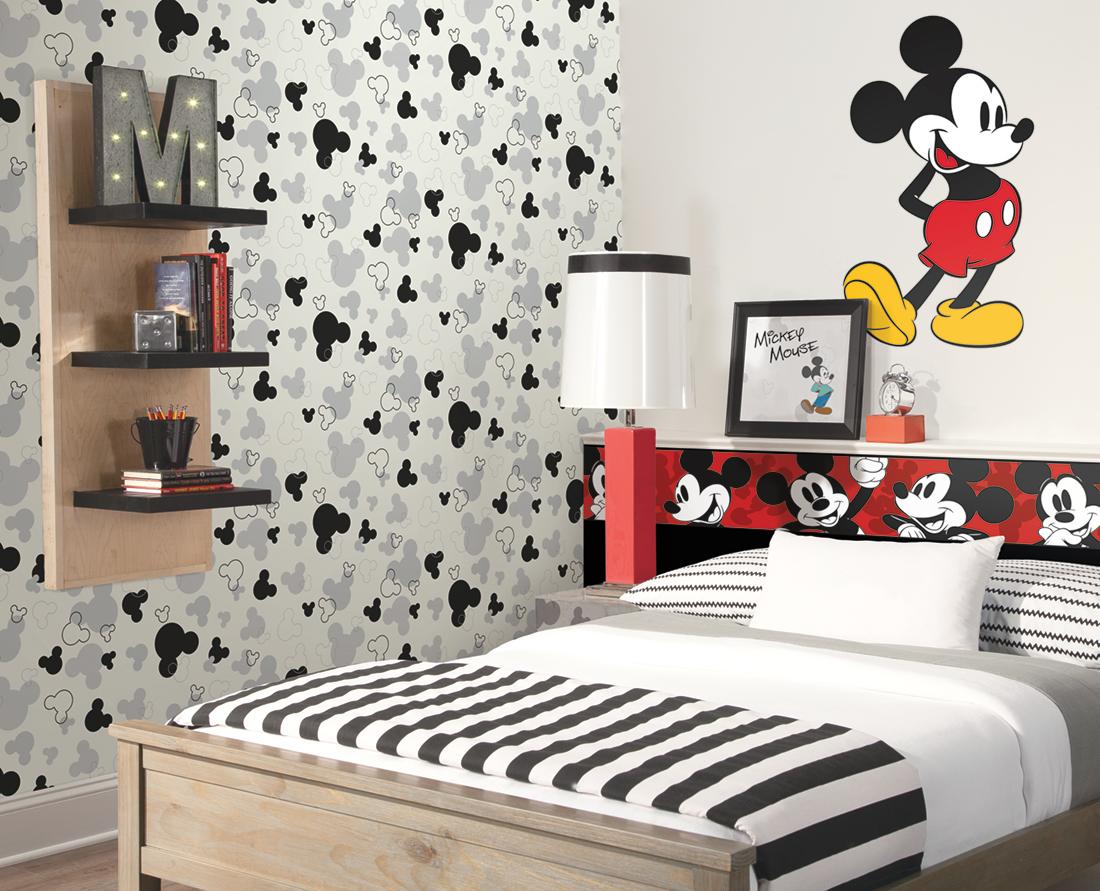 Papier peint Mickey argent noir - Disney de Lutèce AMB   Réf. LTC-DK5929