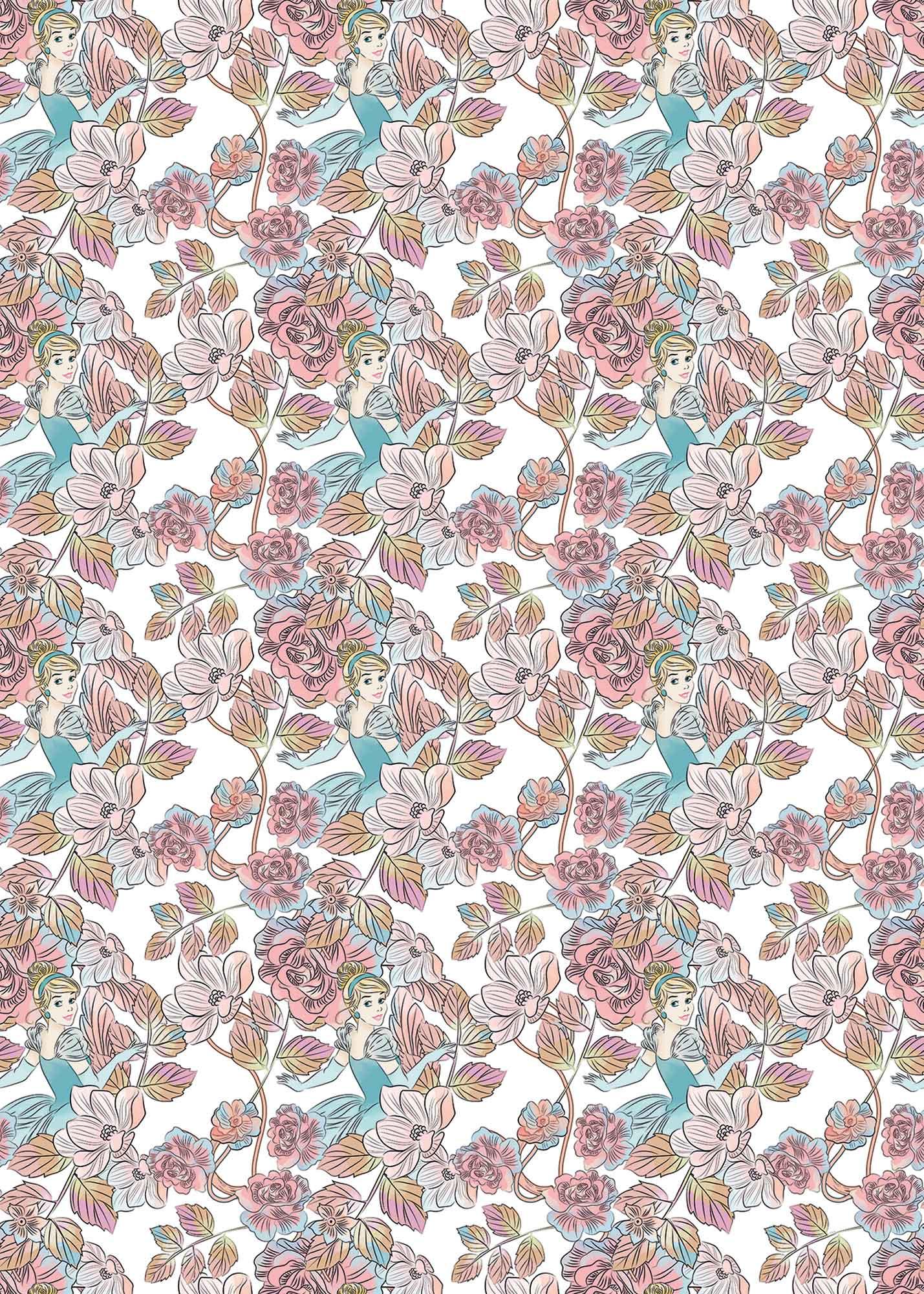 Papier peint enfant Disney Cinderella Blossom - Papier peint panoramique Komar