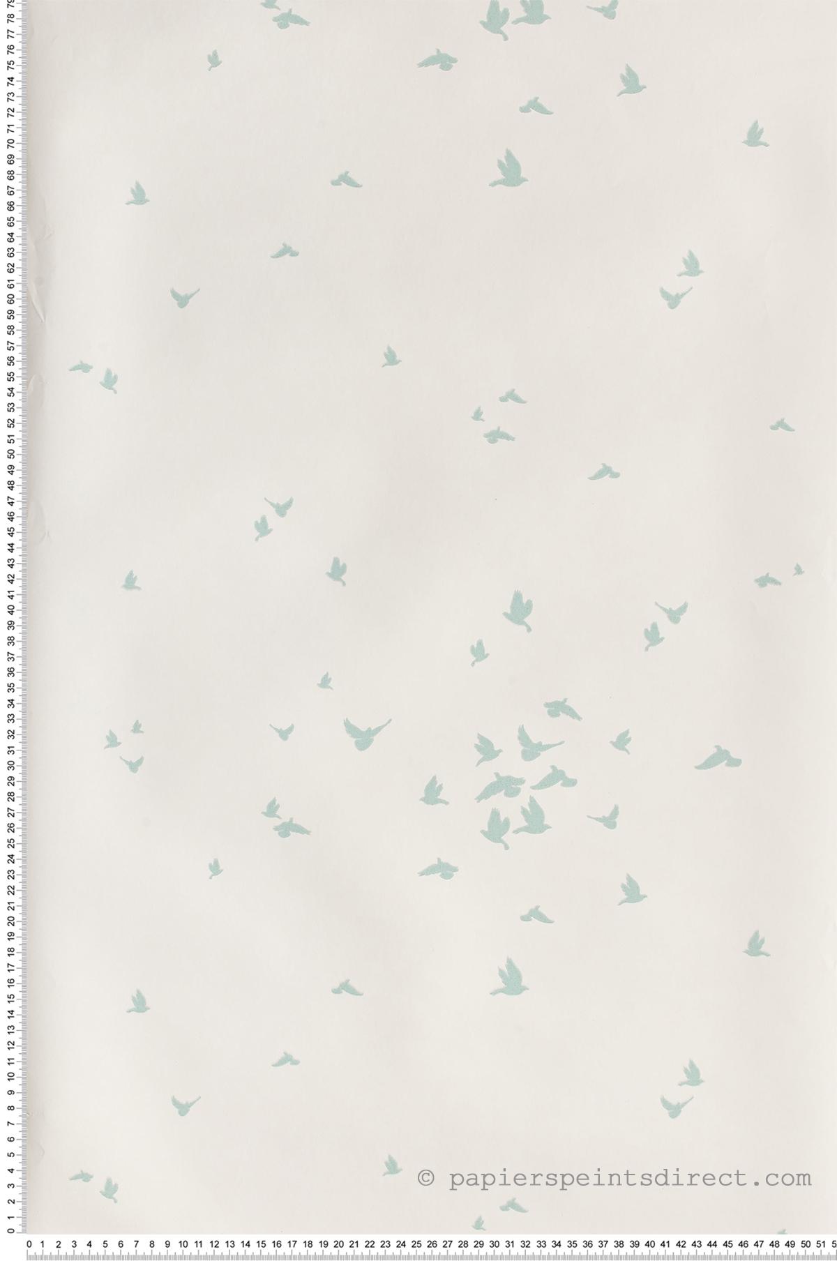 Envol d'oiseaux vert d'eau - Collection Dwell Studio de York by Initiales