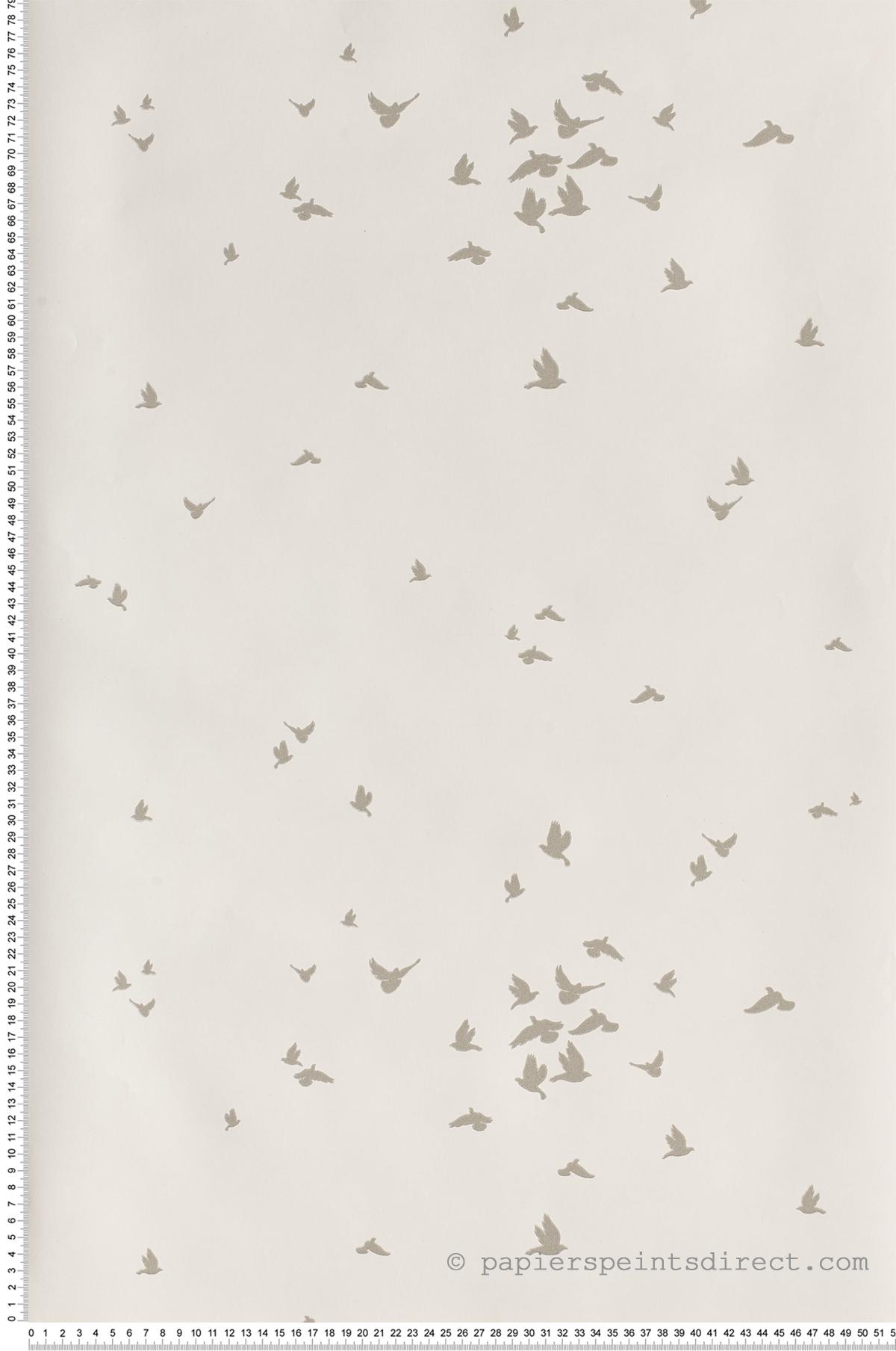 Envol d'oiseaux gris souris - Collection Dwell Studio de York by Initiales