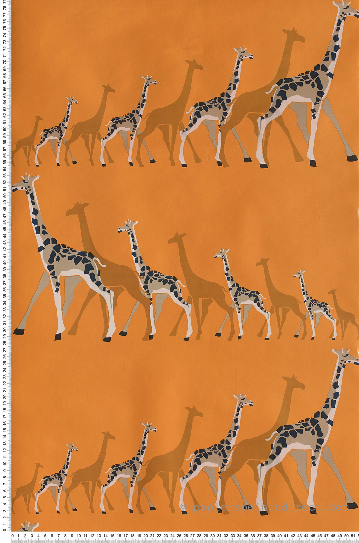 Girafe orange - Collection Dwell Studio de York by Initiales