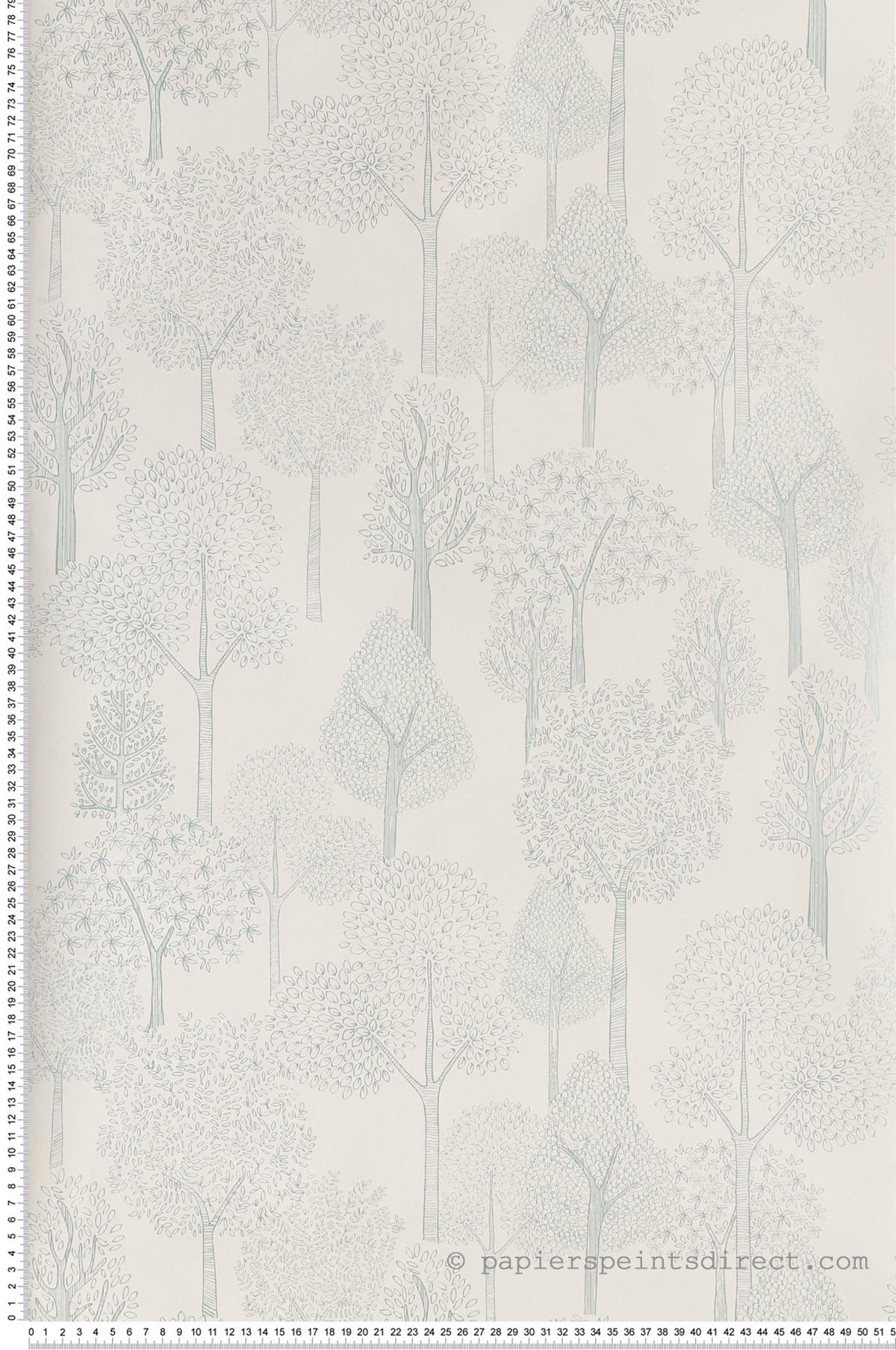 Arbres irisés menthe - Collection Dwell Studio de York by Initiales