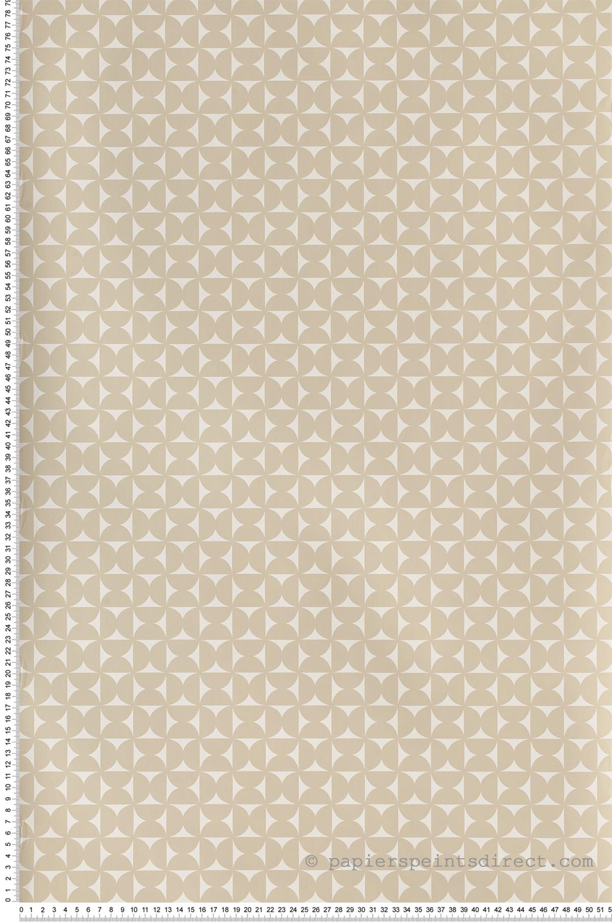 Géométrie beige - Collection Dwell Studio de York by Initiales