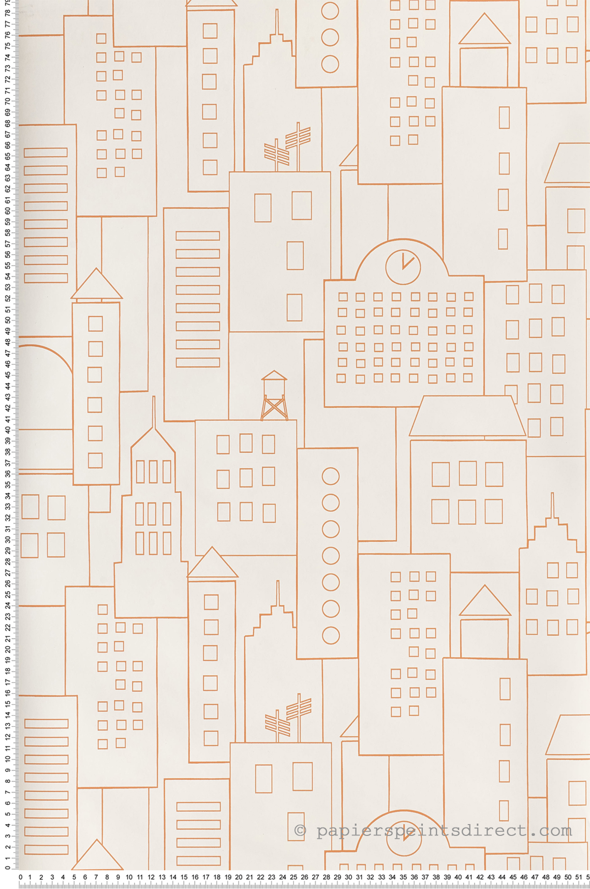 Immeubles orange - Collection Dwell Studio de York by Initiales