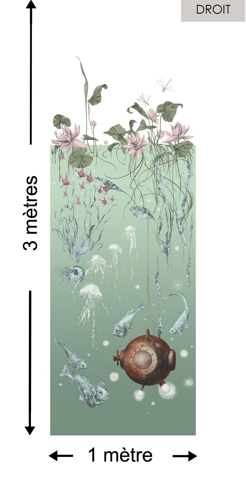 Nautilus DROIT Aqua - Collection Catherine Gran de Edmond Petit