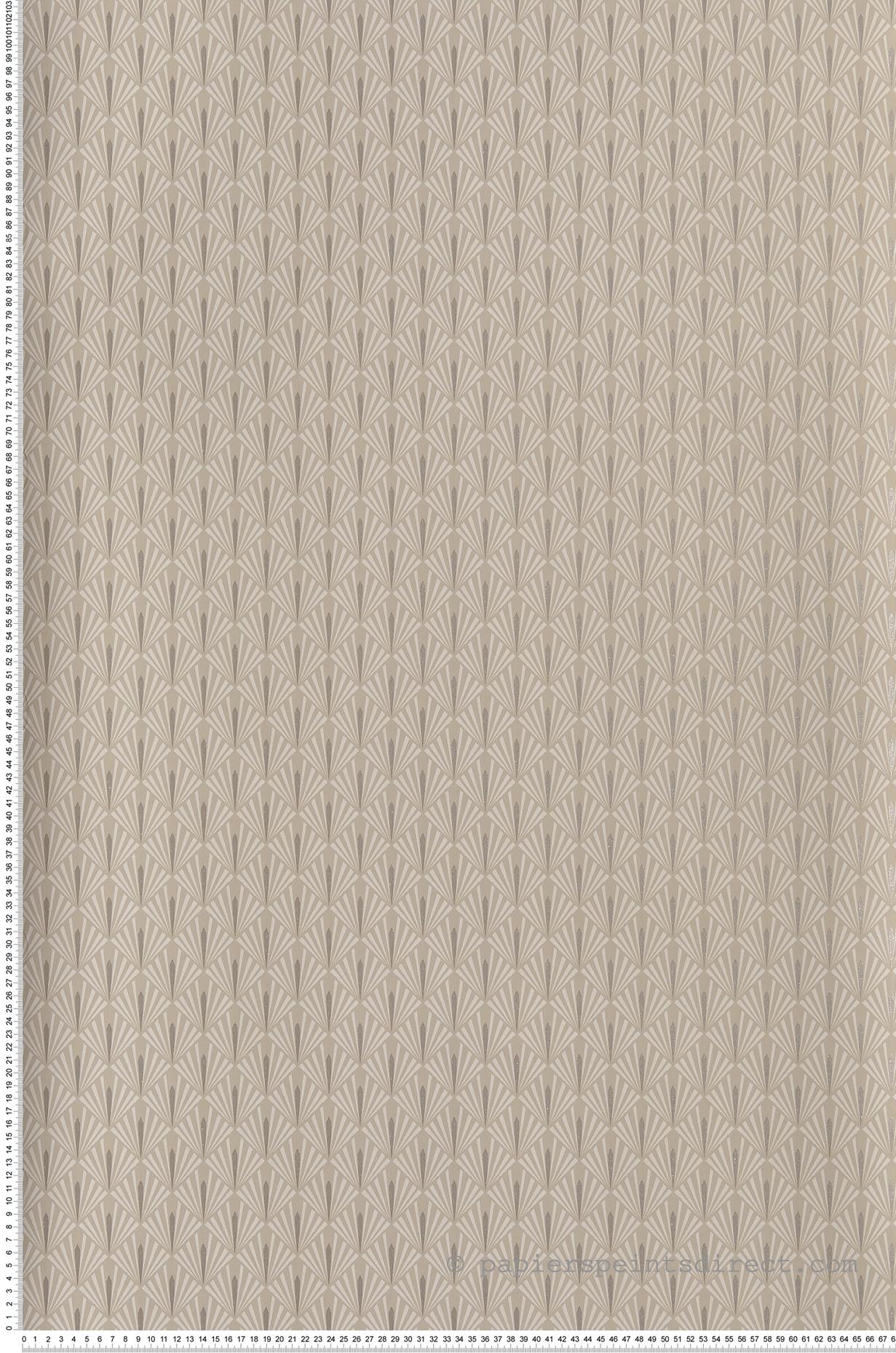 Papier Peint Stein grège - Ellington de Casamance   Réf. CAS-73920130