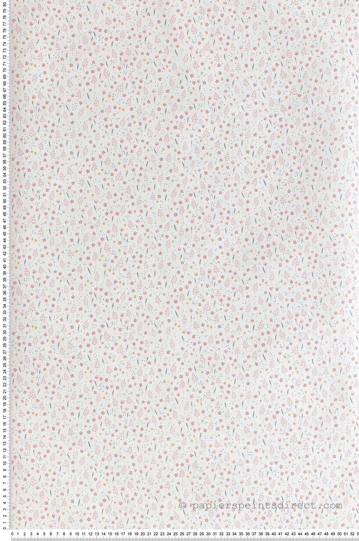 Papier peint enfant Liberty rose/jaune - Happy Dreams de Casadéco   Réf. HPDM82752212