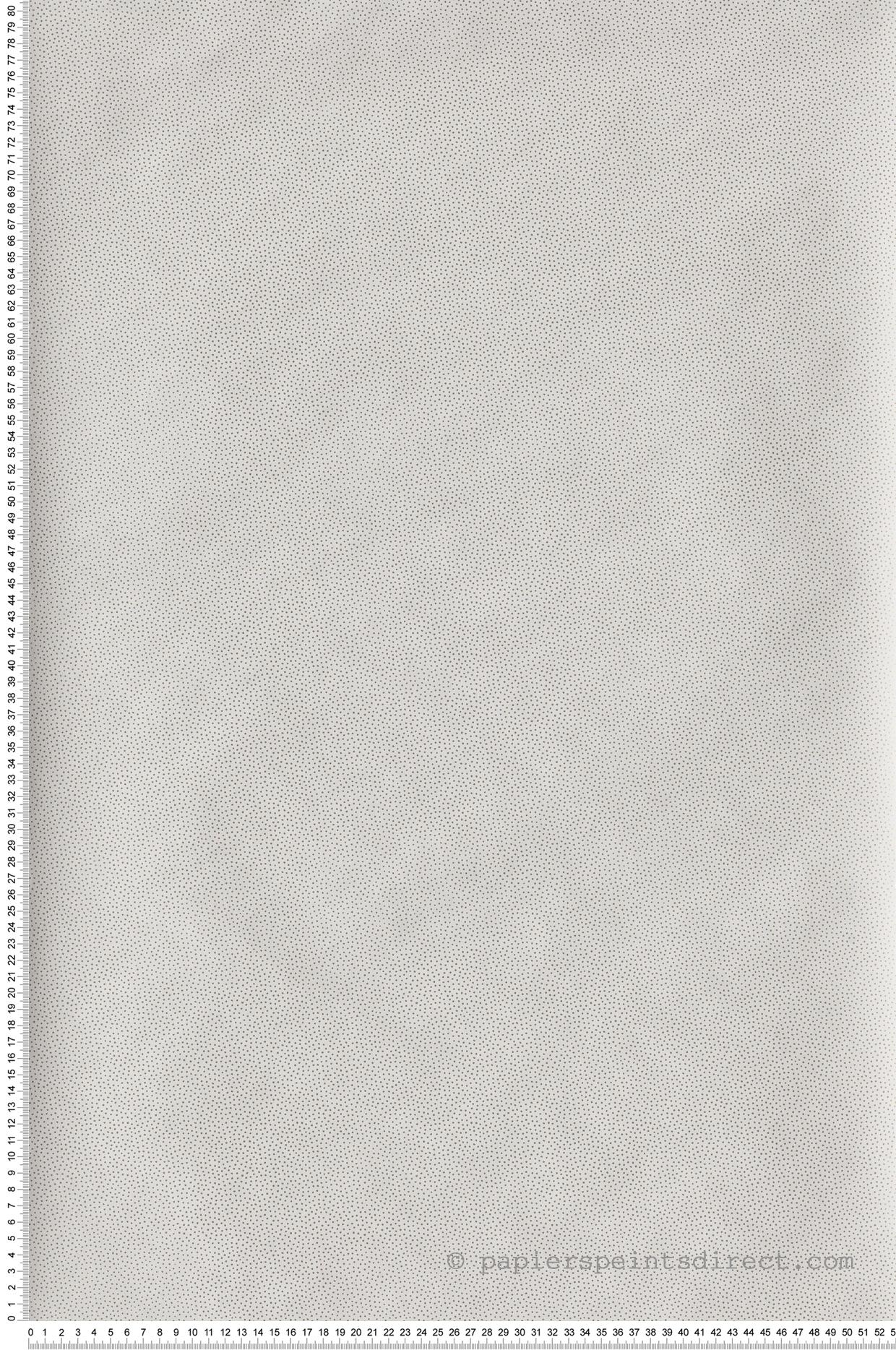 Papier peint pois Goma blanc et or - Hygge de Casélio | HYG100400011