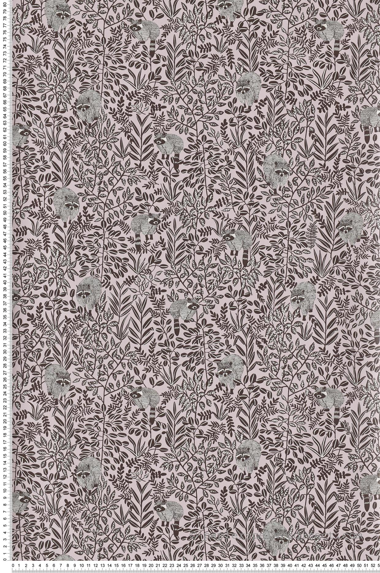 Papier peint raton laveur Free Spirit rose - Hygge de Casélio | HYG100544525