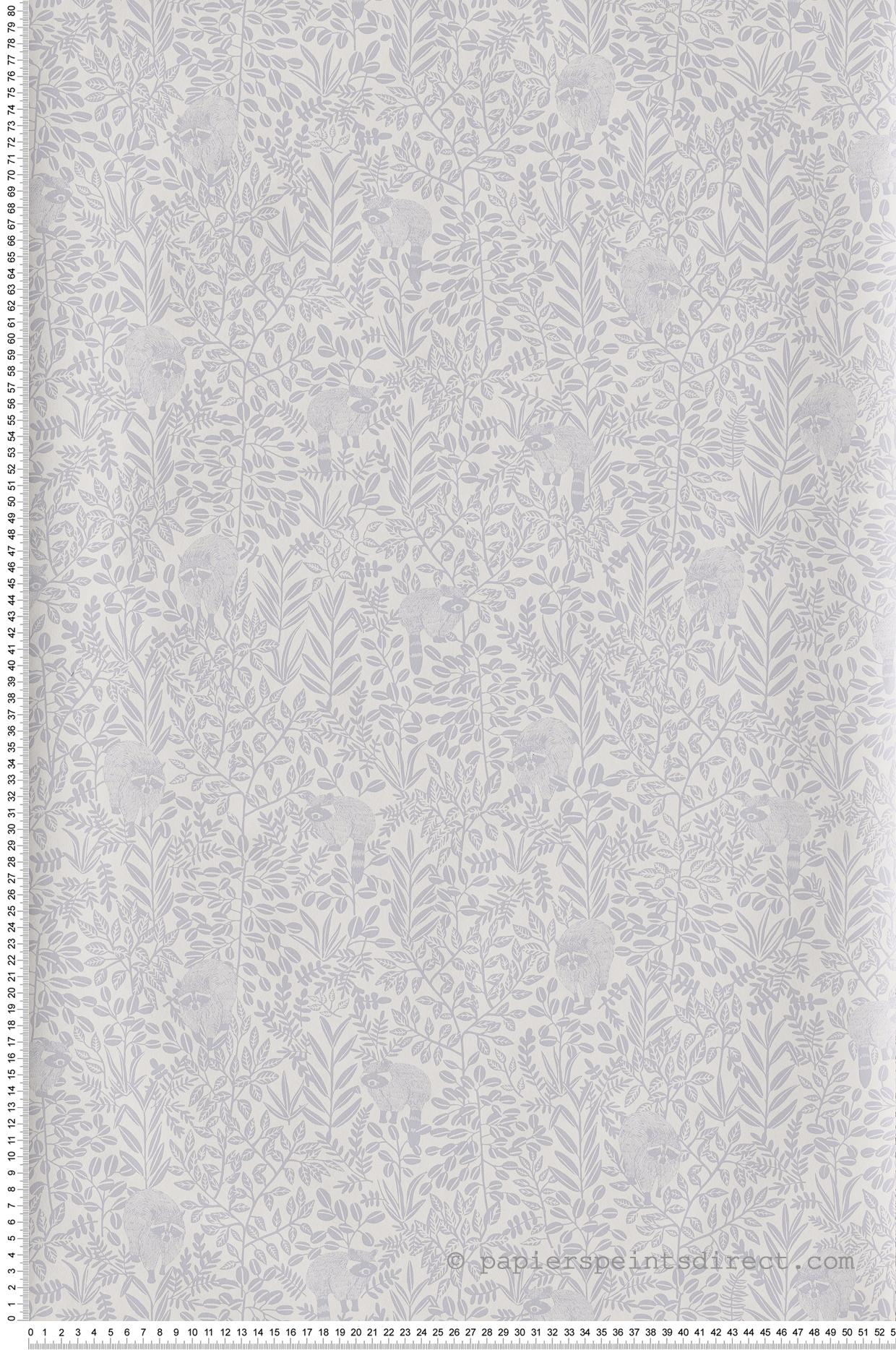 Papier peint raton laveur Free Spirit gris - Hygge de Casélio   HYG100549100