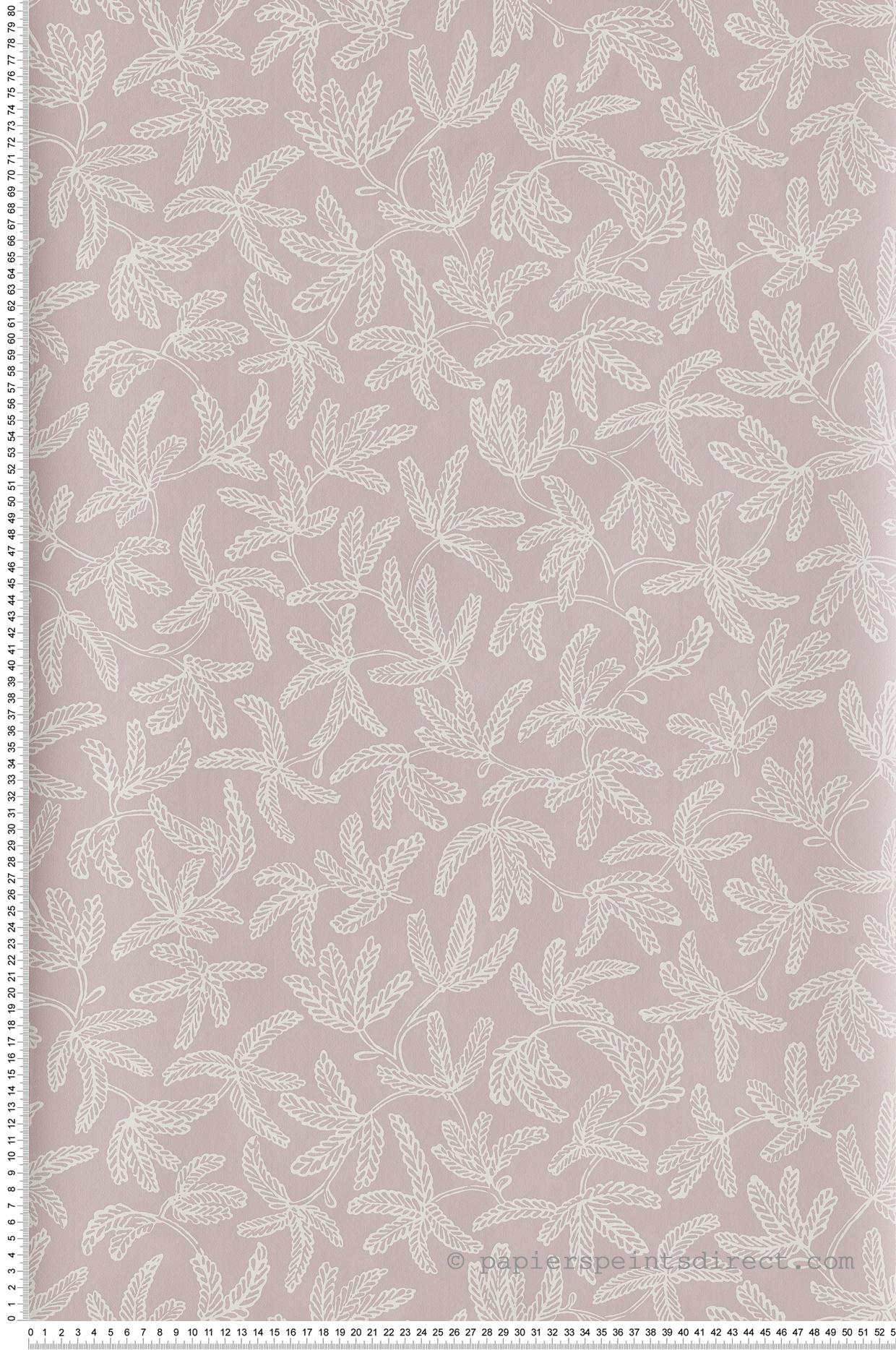 Papier peint feuillage Cocoon rose - Hygge de Casélio   HYG100574812