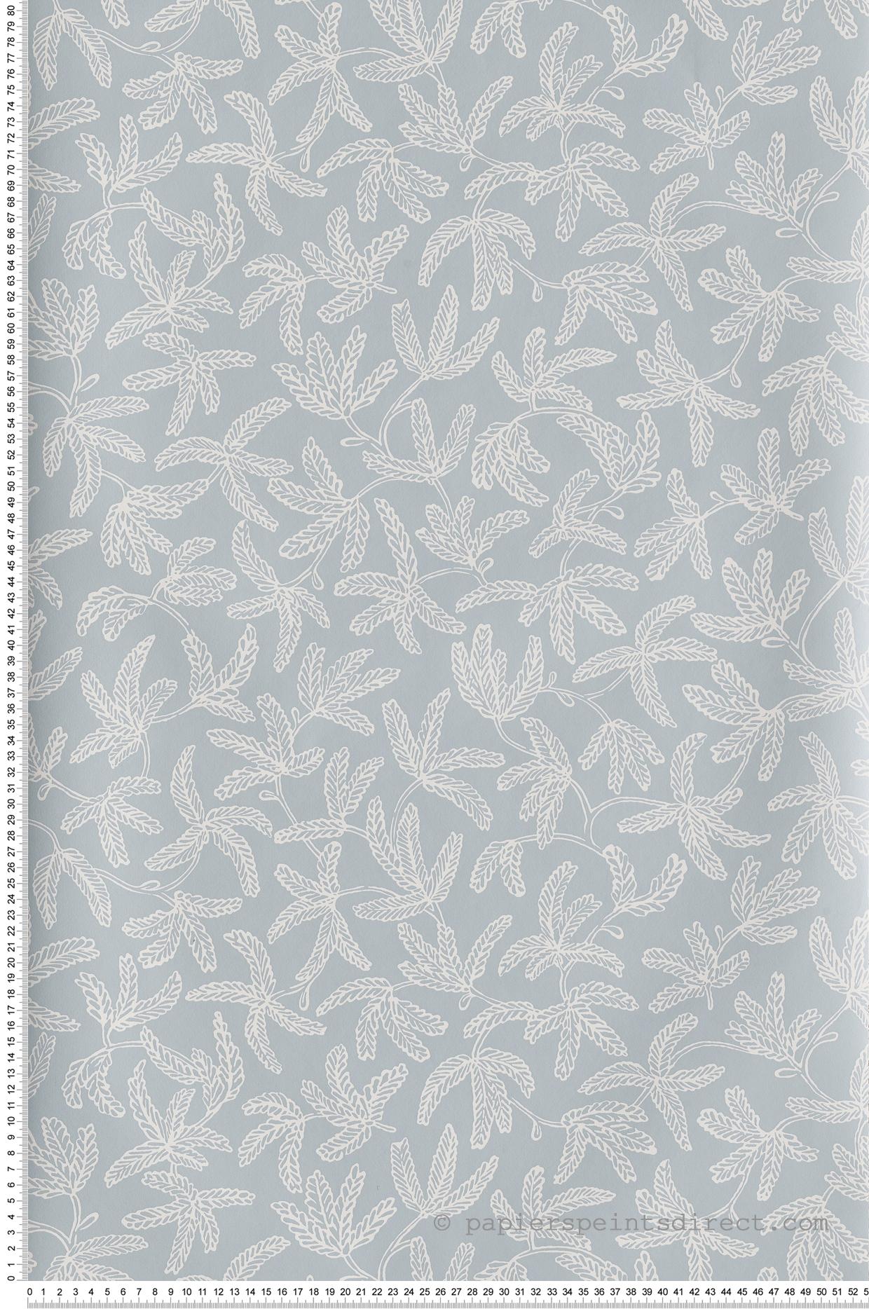 Papier peint feuillage Cocoon bleu ciel - Hygge de Casélio   HYG100577029