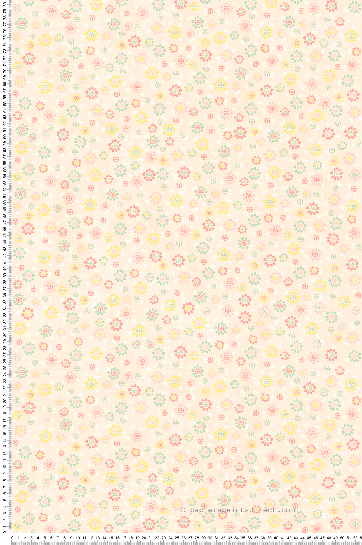 Papier peint Floral pastel saumon - It's Time to Dance d'AS Création | Réf. SP04545