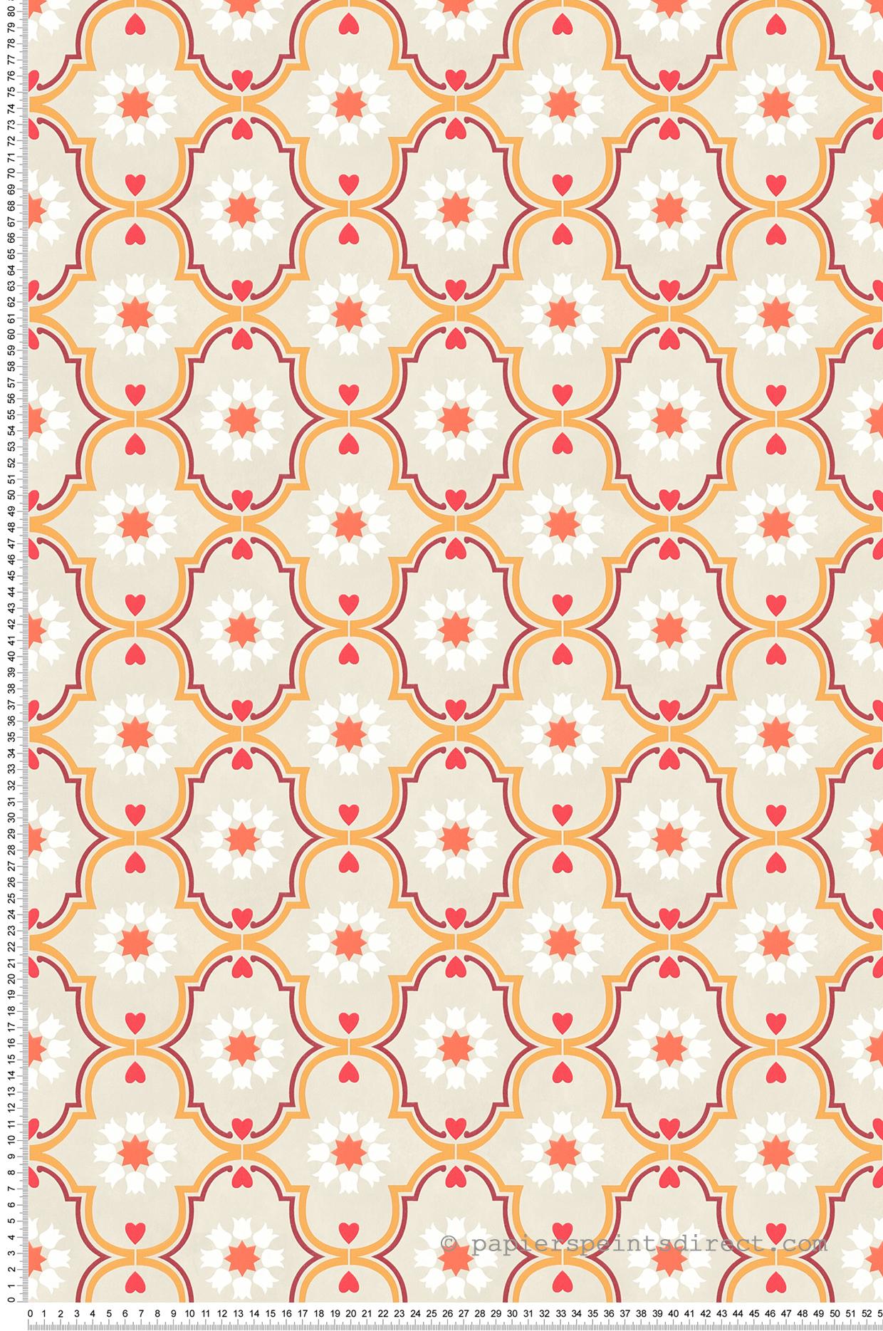 Papier peint Médaillon orange - It's Time to Dance d'AS Création | Réf. SP04563