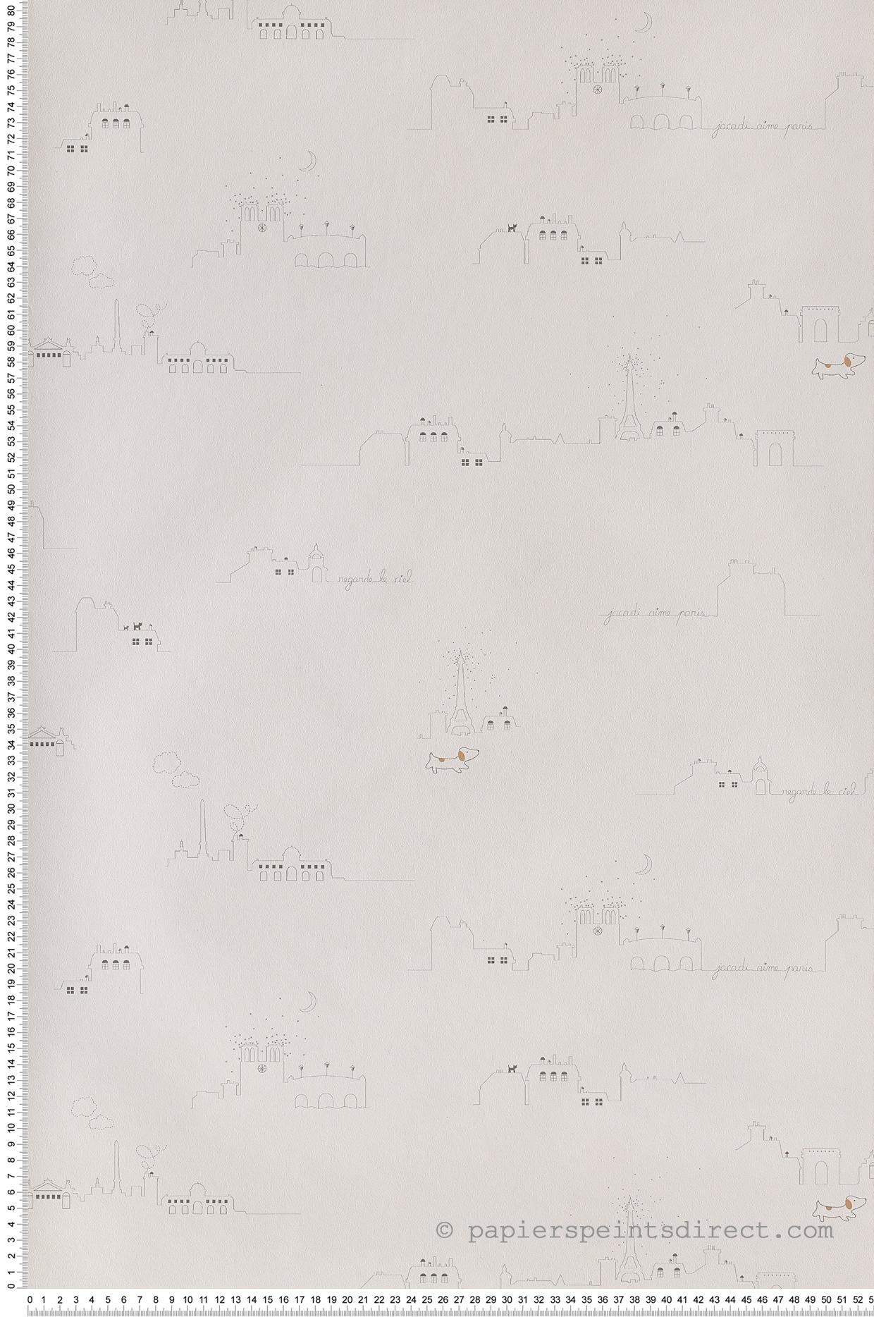 Papier Peint Toits De Paris Jacadi De Lutece Ref Ltc 36170809