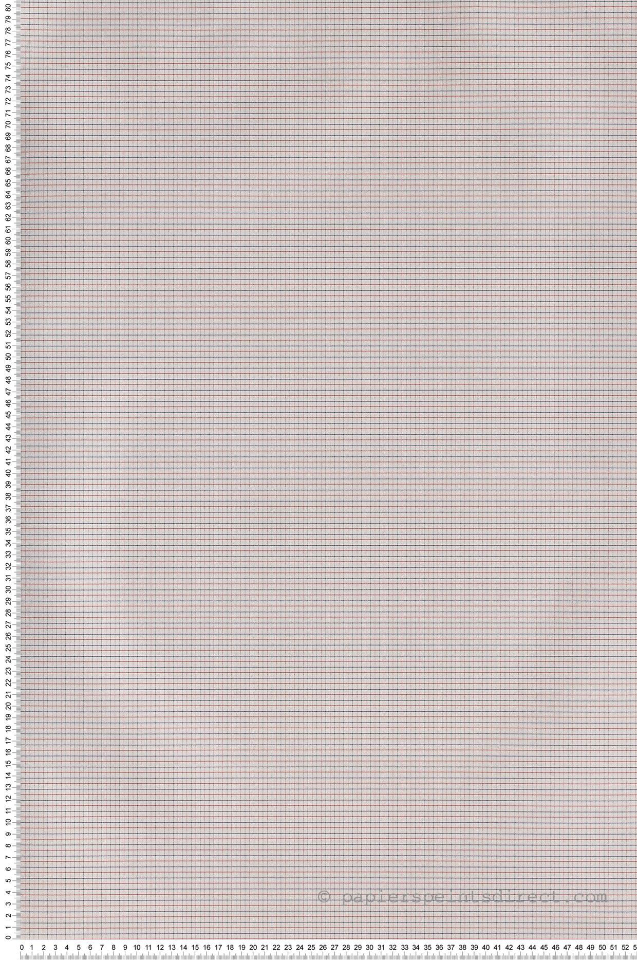 Papier Peint Carreaux rouge et bleu - Jacadi de Lutèce    Réf. LTC-36171110