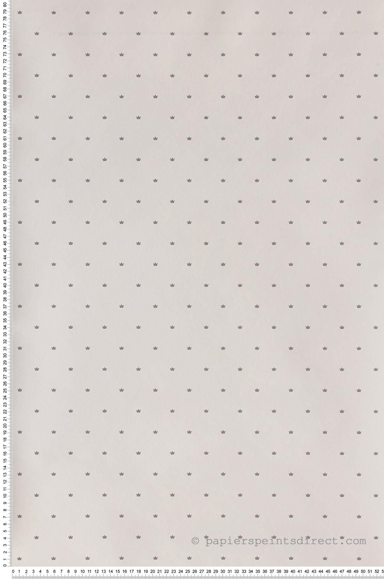 Papier Peint Couronne gris souris - Jacadi de Lutèce  | Réf. LTC-36171309
