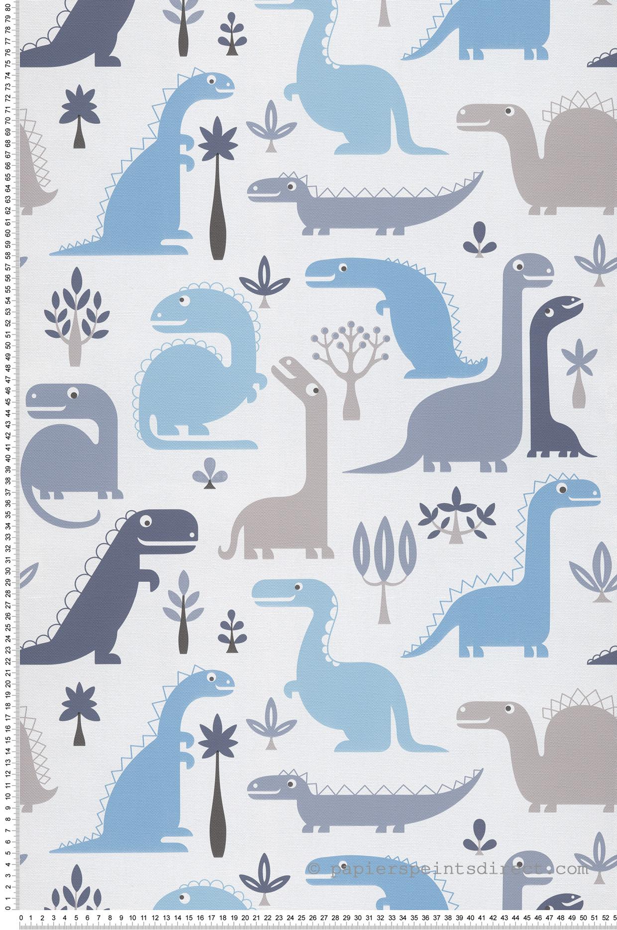 Papier peint enfant Dinaosaures bleu - Jack N Rose 2 de Montecolino   Réf. MC-LL10021