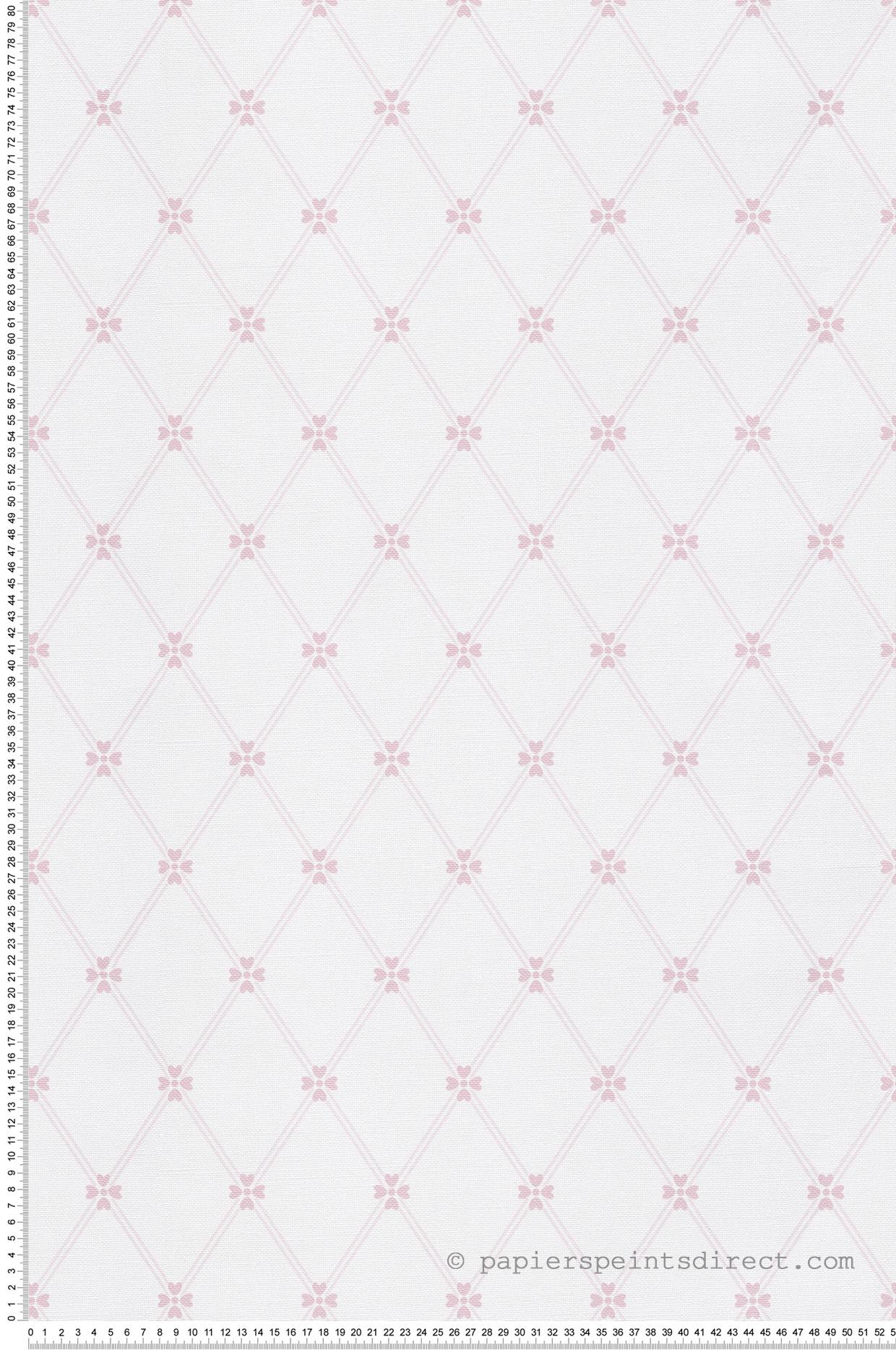 Papier peint enfant Fleurs géométriques rose - Jack N Rose 2 de Montecolino   Réf. MC-LL3305