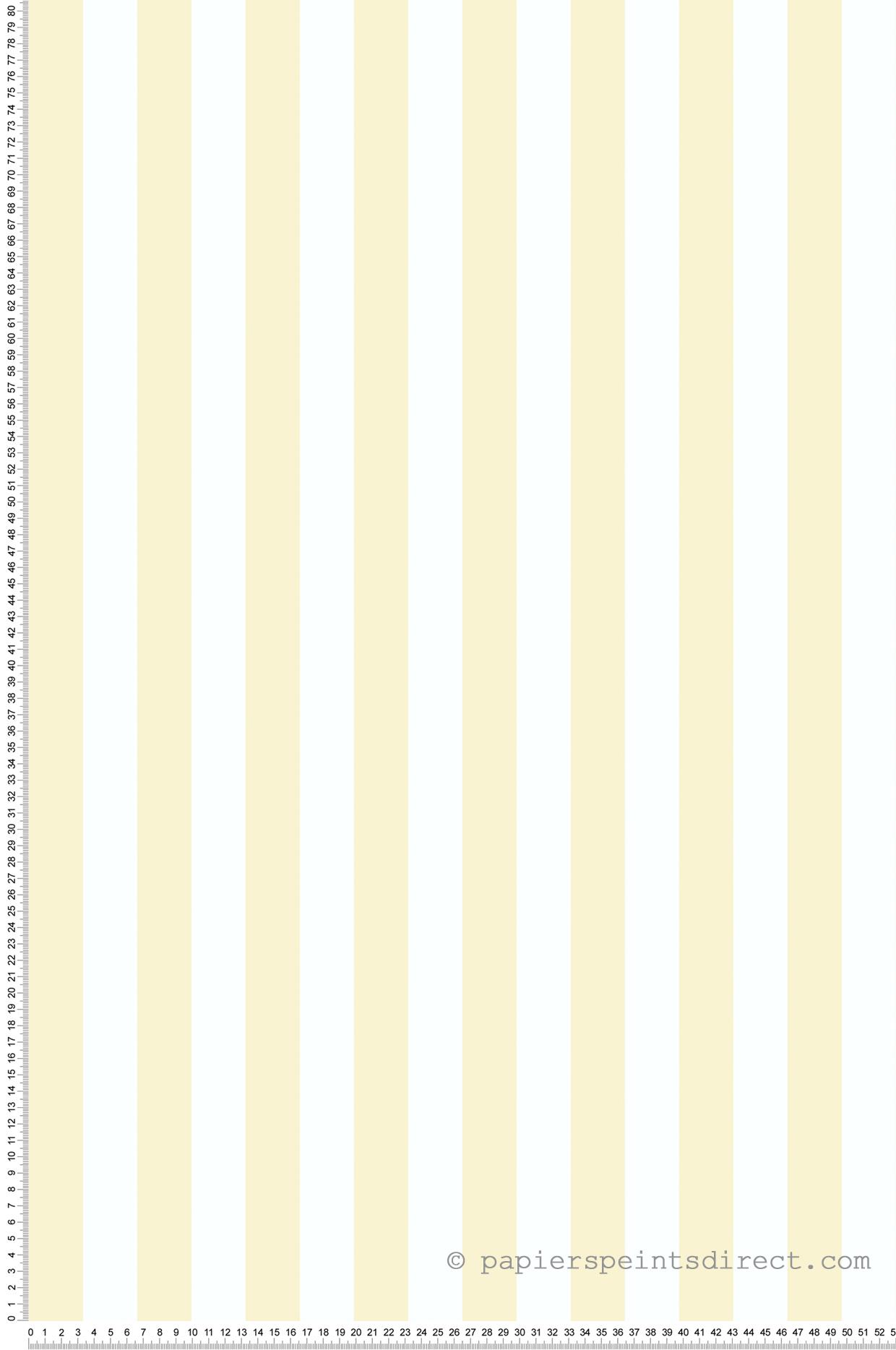 Bande Papier Peint Salon papier peint bandes jaune - blanc - les jardins d'hortense 4