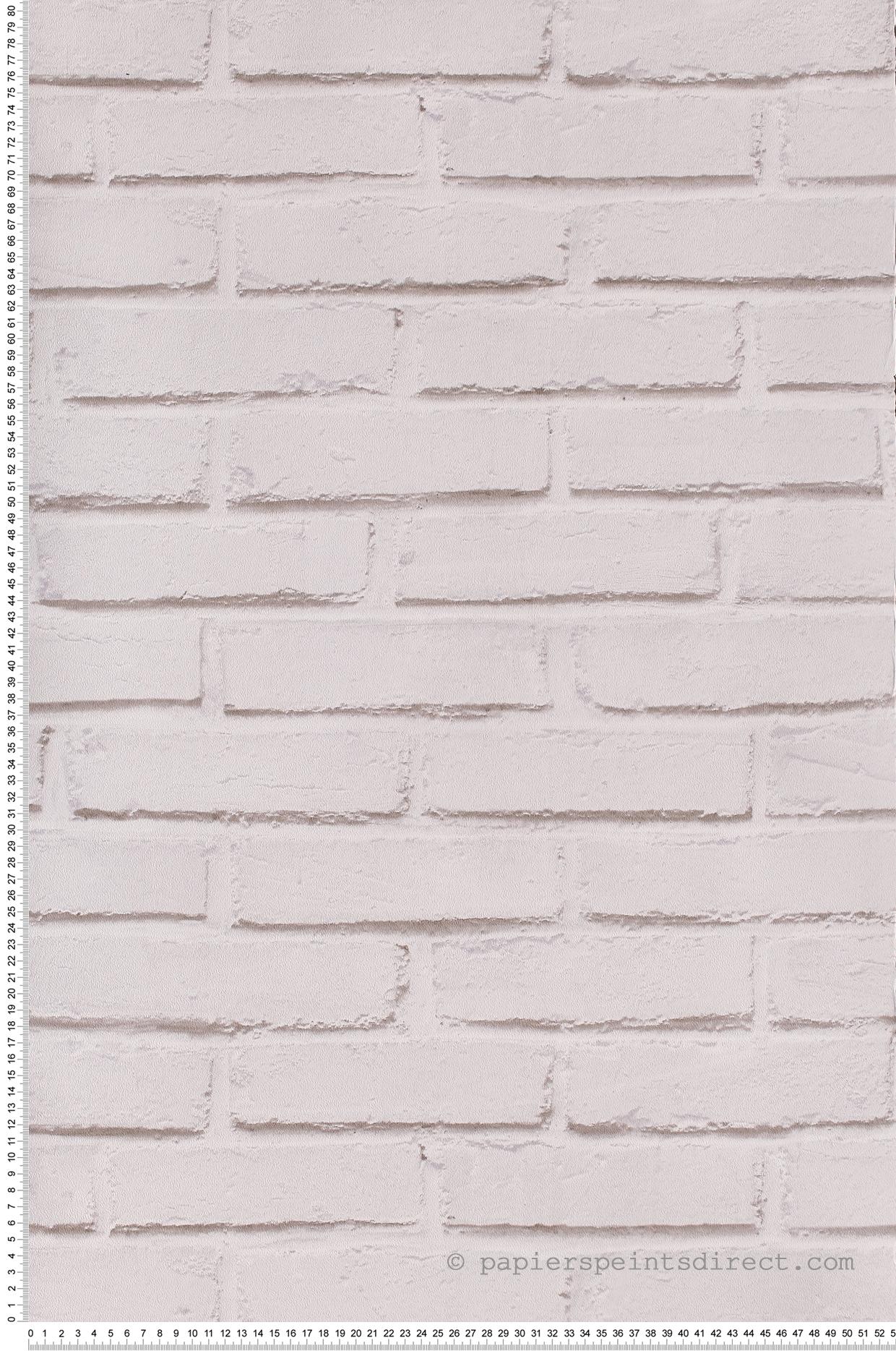 Mur Effet Brique Blanche papier peint brique blanche - les aventures de lutèce   réf