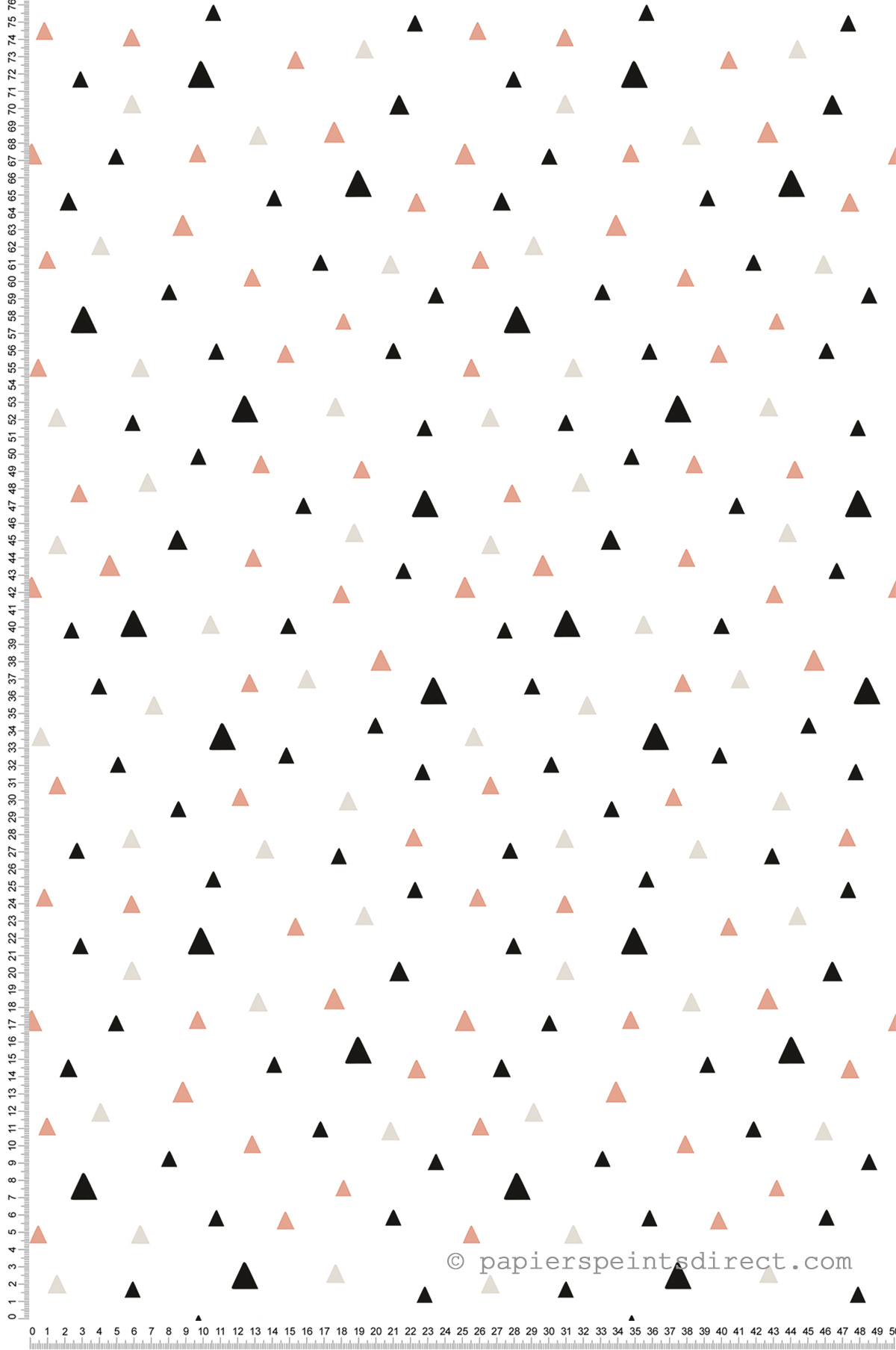 Triangles rose corail - Papier peint de Lilipinso
