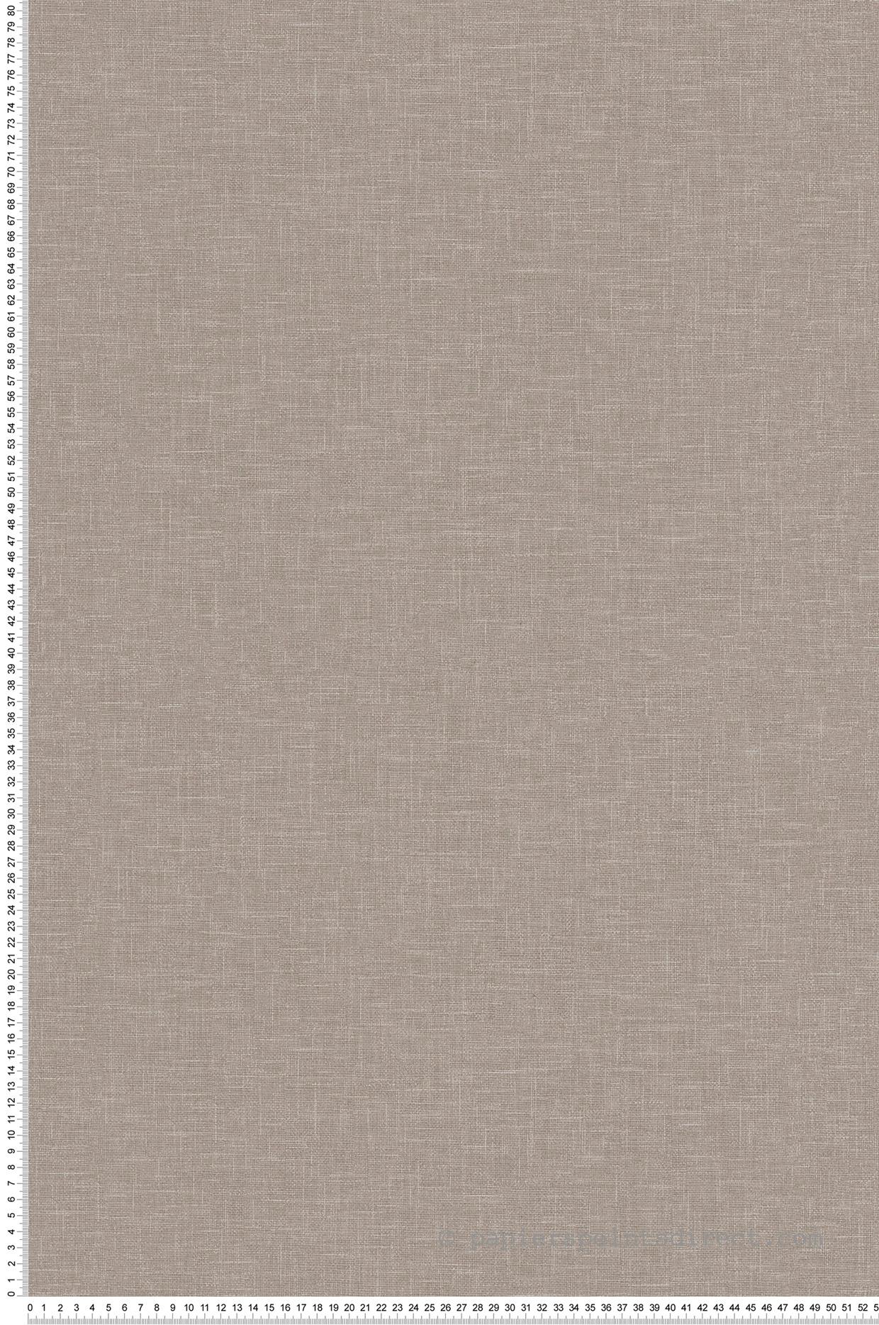 Couloir Couleur Taupe Et Lin papier peint uni lin gris taupe - linen style d'as création