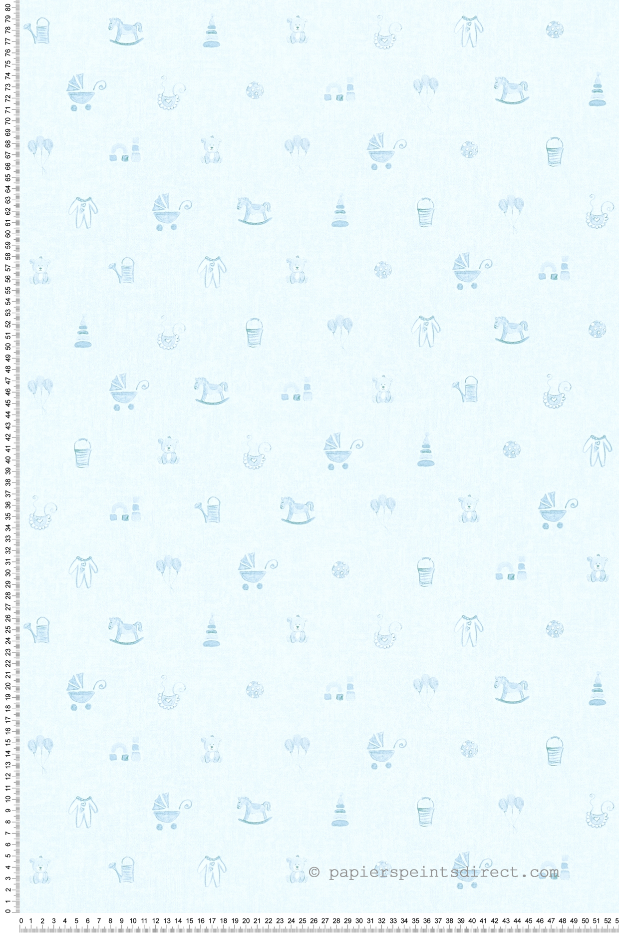 Papier peint jeux d'enfant bleu - Little Stars AS Création | Réf. SP04383