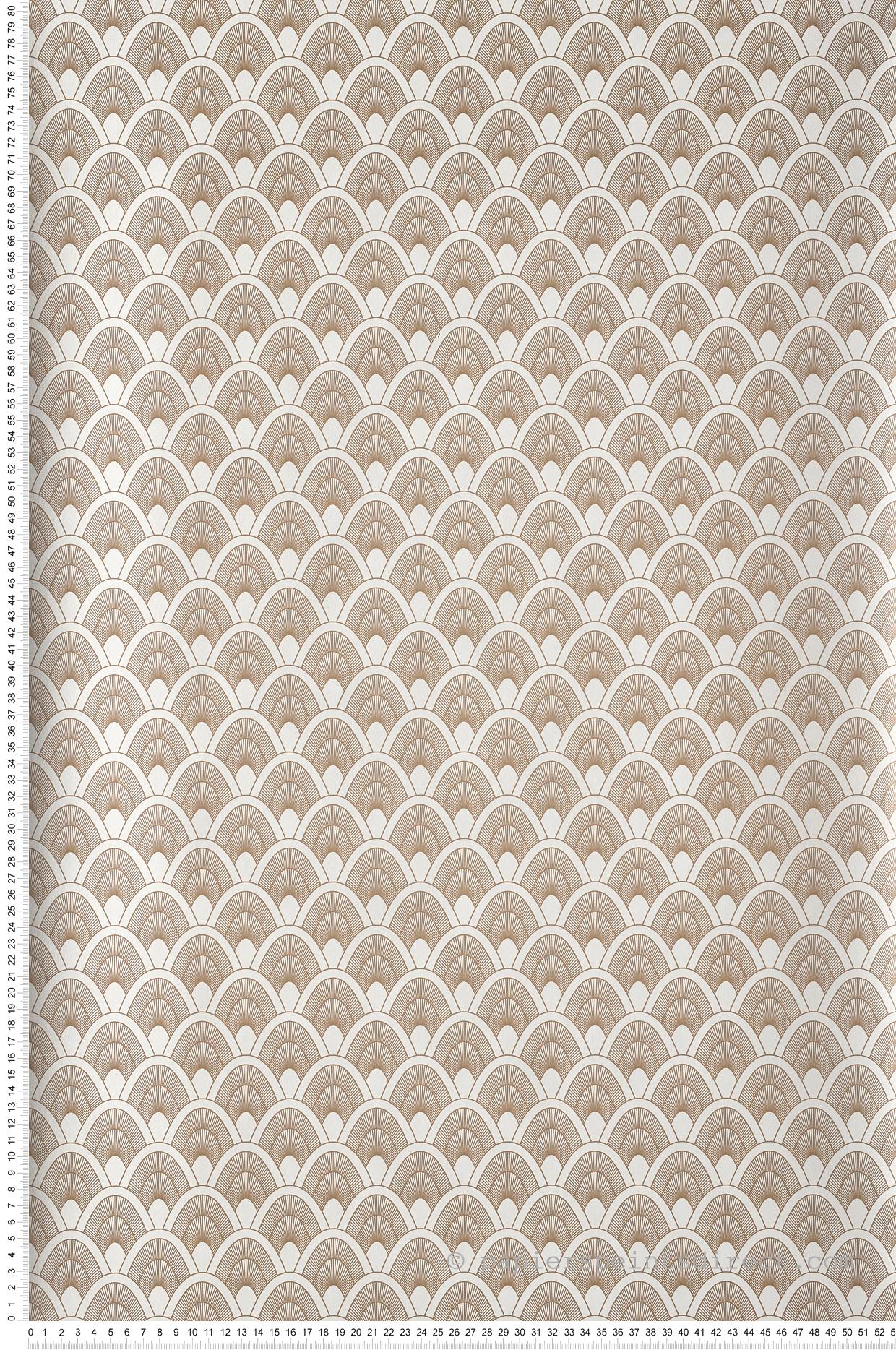 Papier Peint Art Deco Blanc papier peint graphique art déco mayotte blanc/doré - l