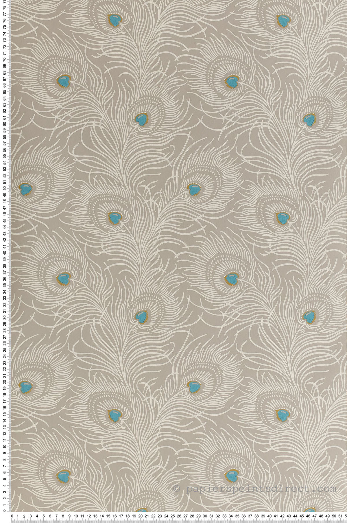 Papier peint Carlton House Terrace Pompon - Collection London Wallpapers V de Little Greene