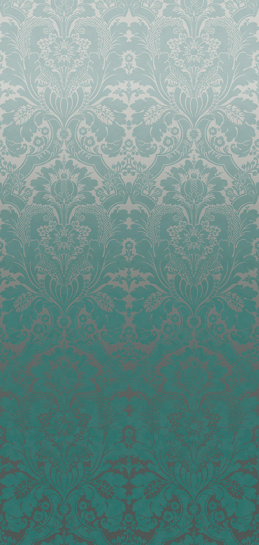 Papier peint St James's Park Teal Fade - Collection London Wallpapers V de Little Greene