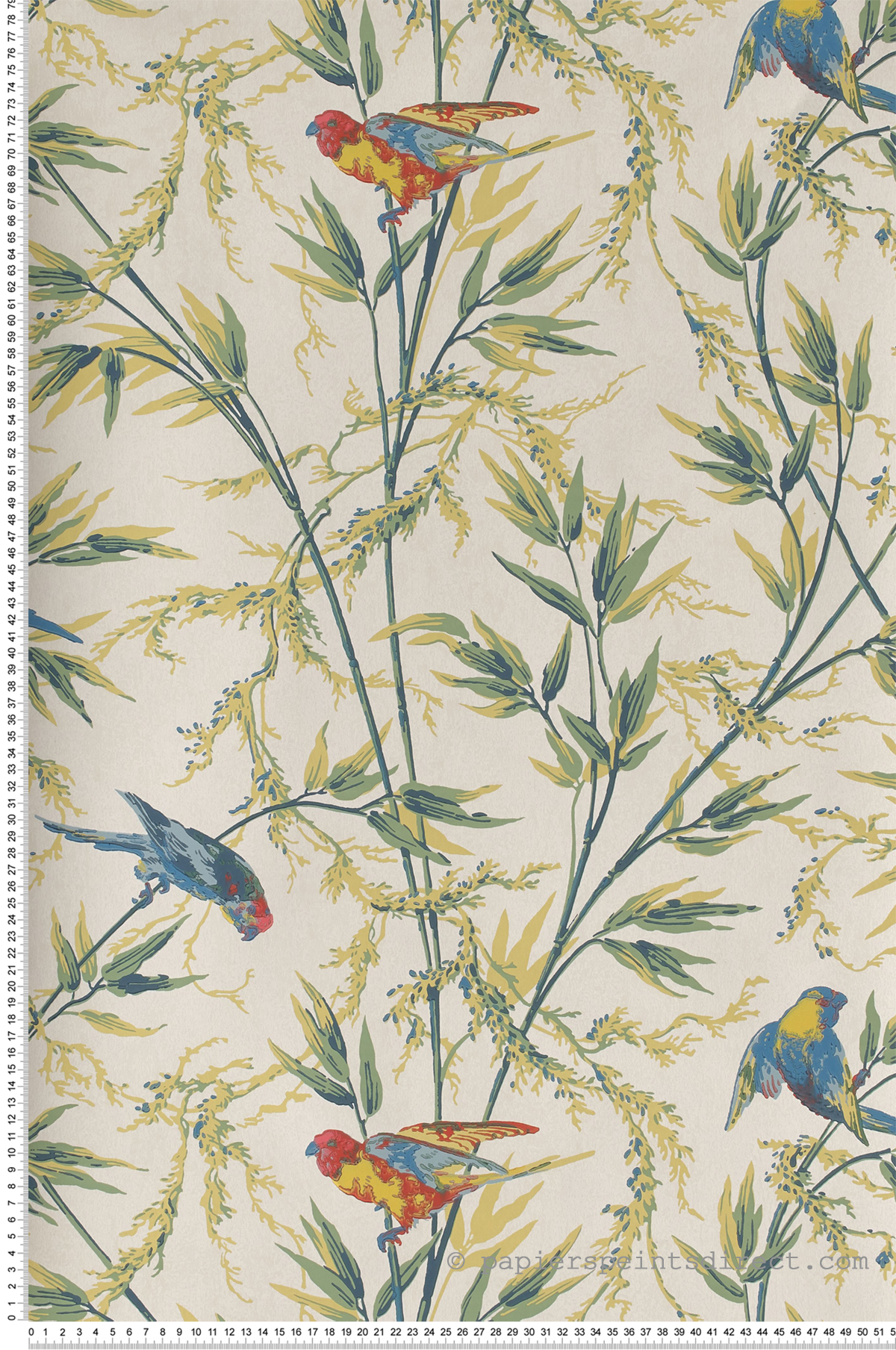 Great Ormond St. vert tilleul - Papier peint London Wallpapers IV de Little Greene