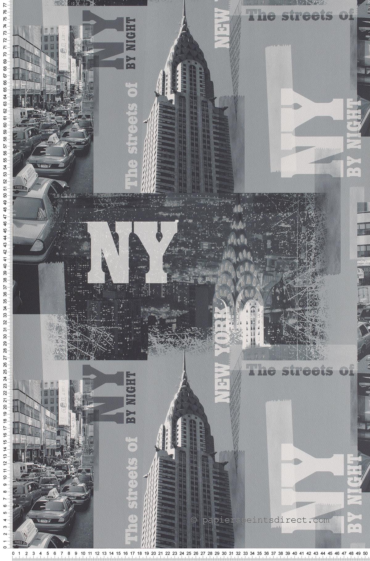 Rues de New York - Papier peint Les aventures Lutèce
